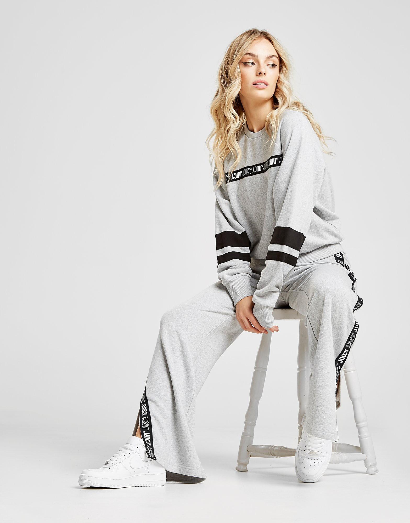 Juicy by Juicy Couture Tape Wide Leg Track Pants - Grijs - Dames