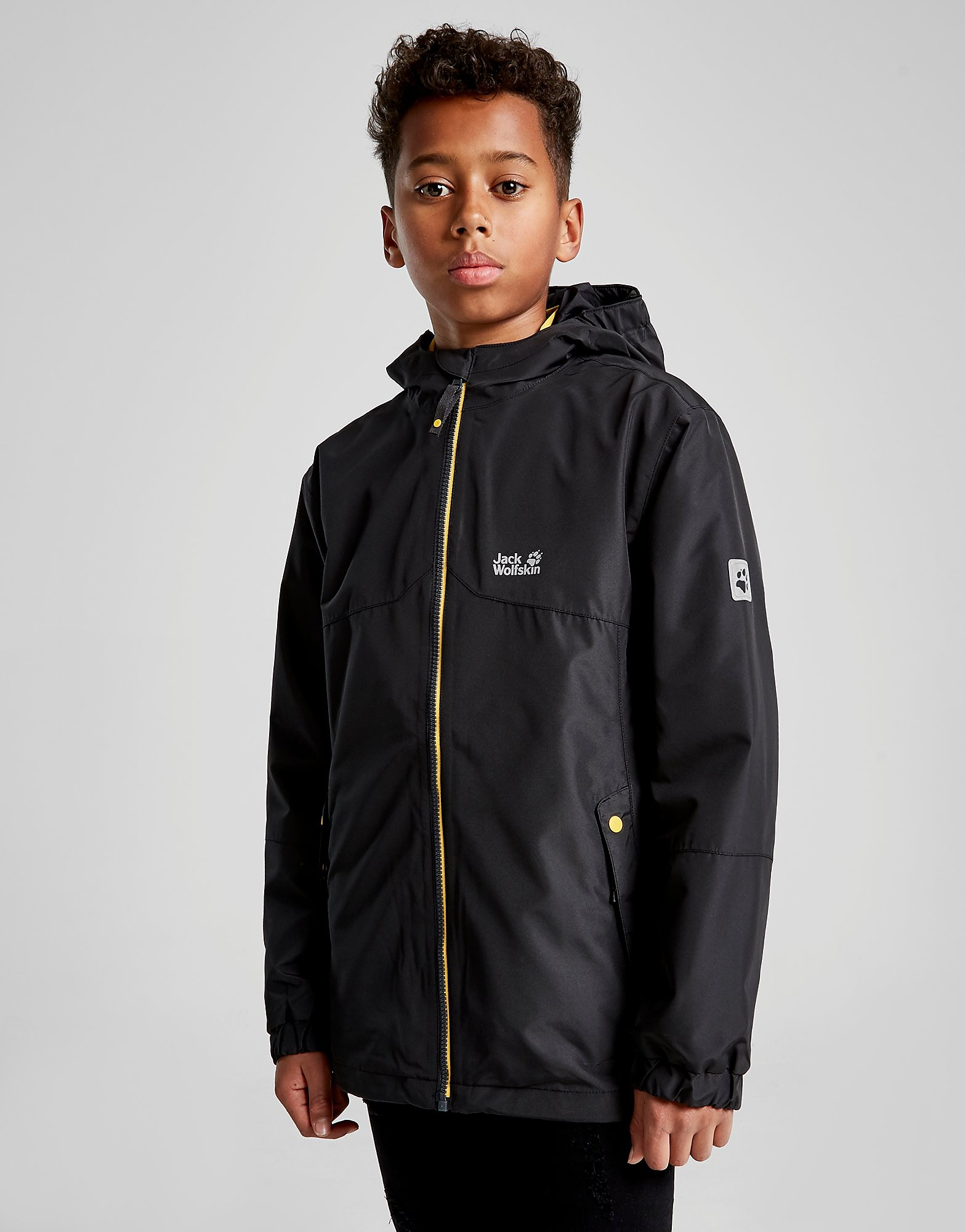 Jack Wolfskin Iceland 3-in-1 Jacket Junior - Zwart - Kind