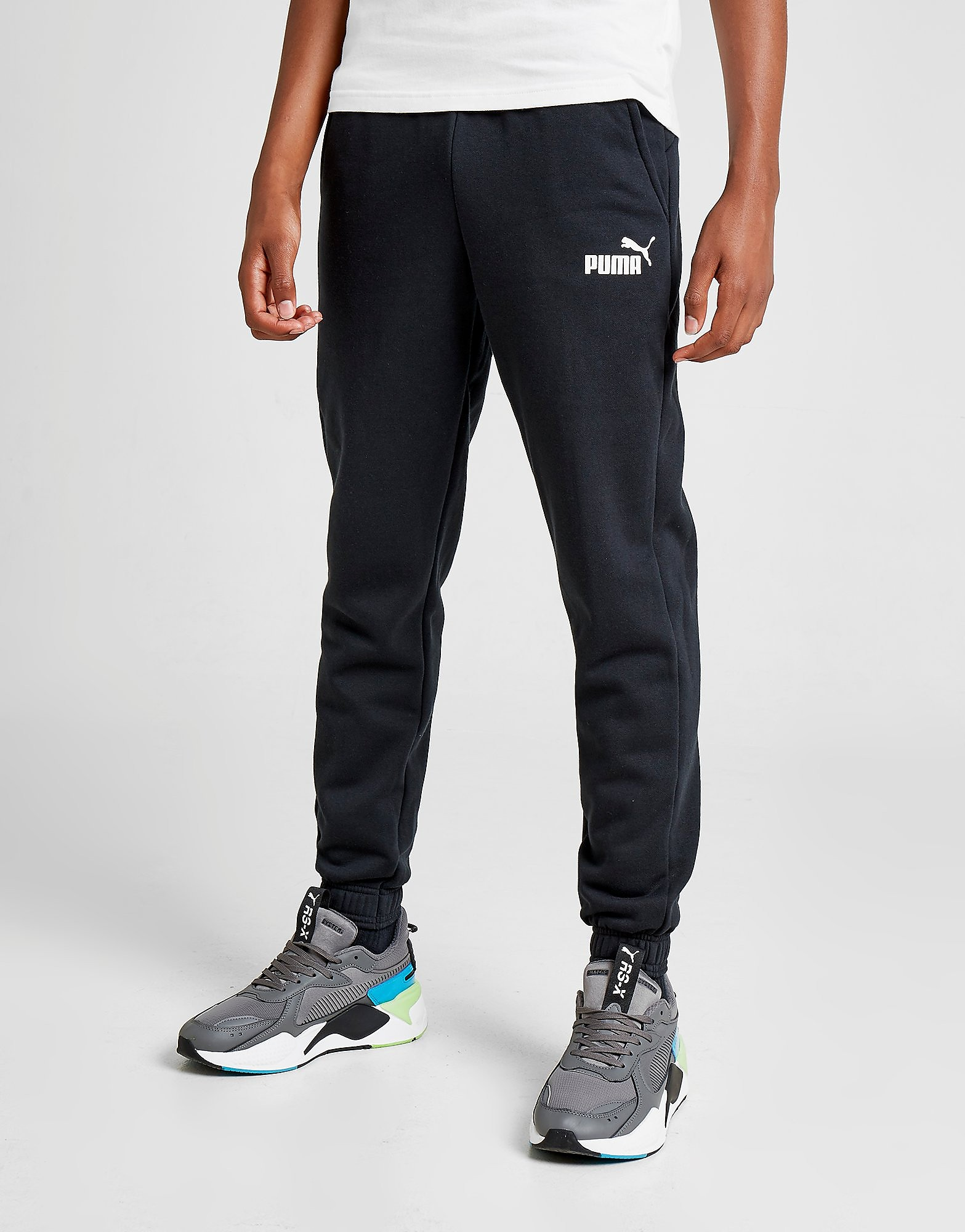 PUMA Core Logo Track Pants Junior Zwart Kind Zwart