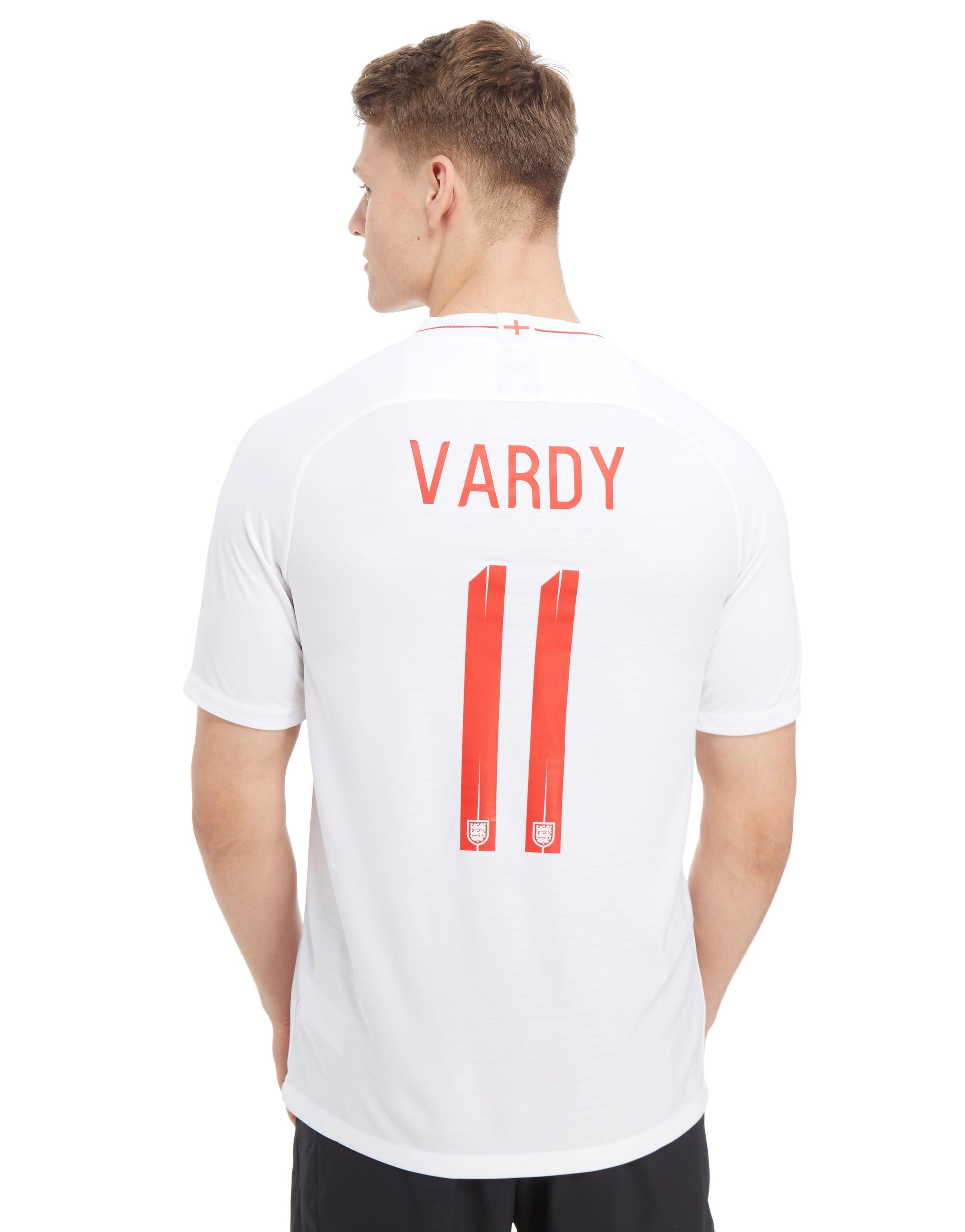 Nike England 2018 Vardy #11 Home Shirt