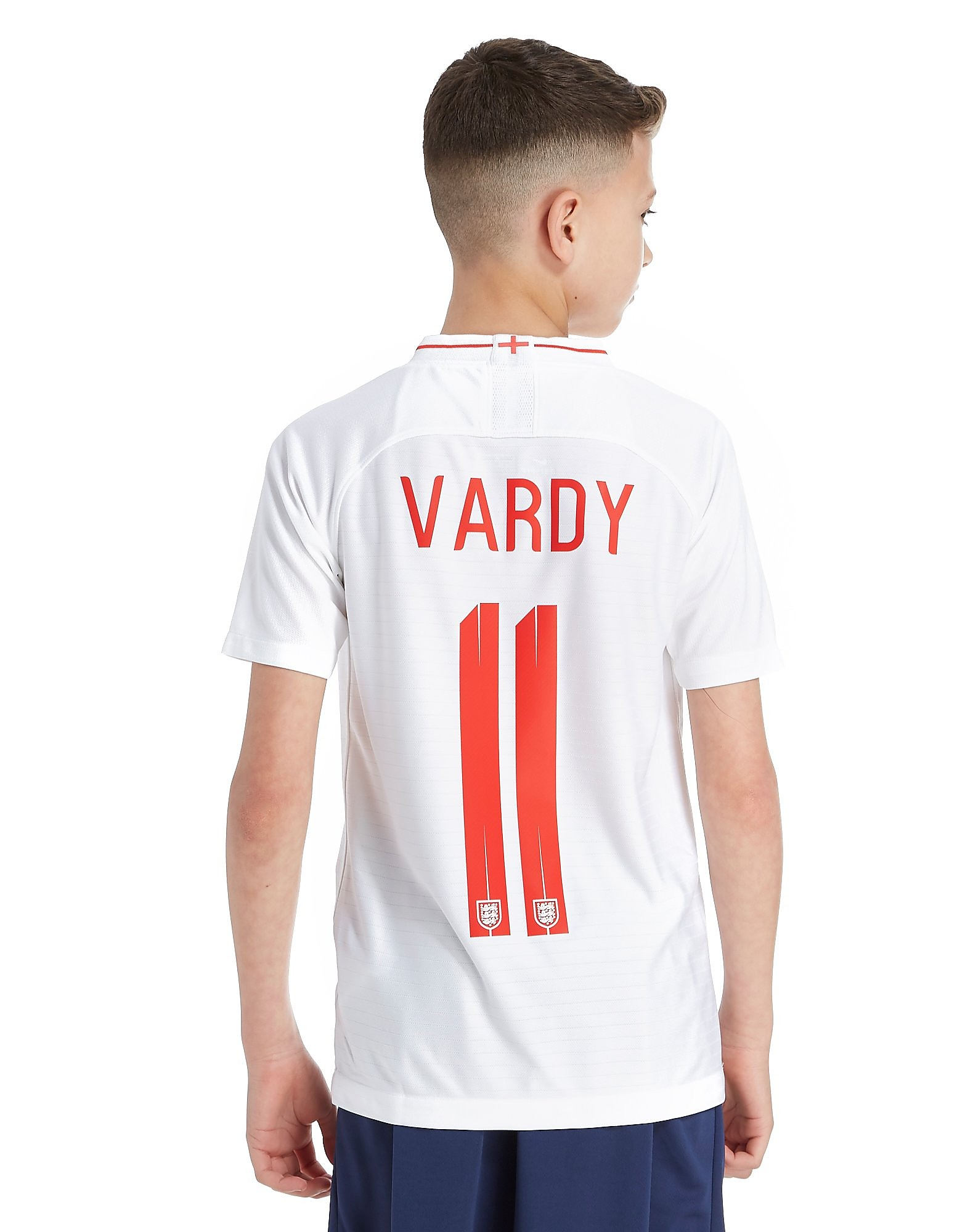 Nike England 2018 Vardy #11 Home Shirt Junior