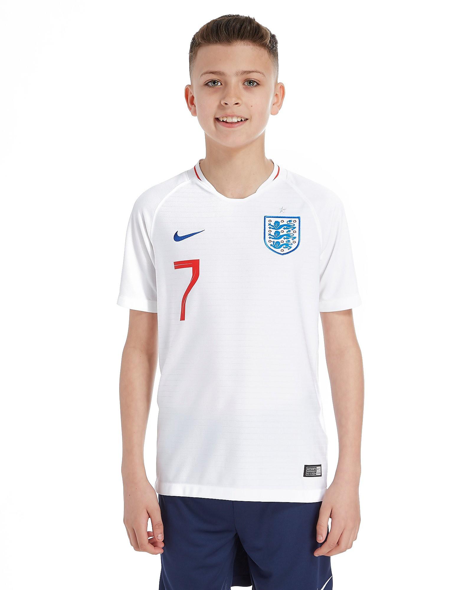 Nike England 2018 Sterling #7 Home Shirt Junior