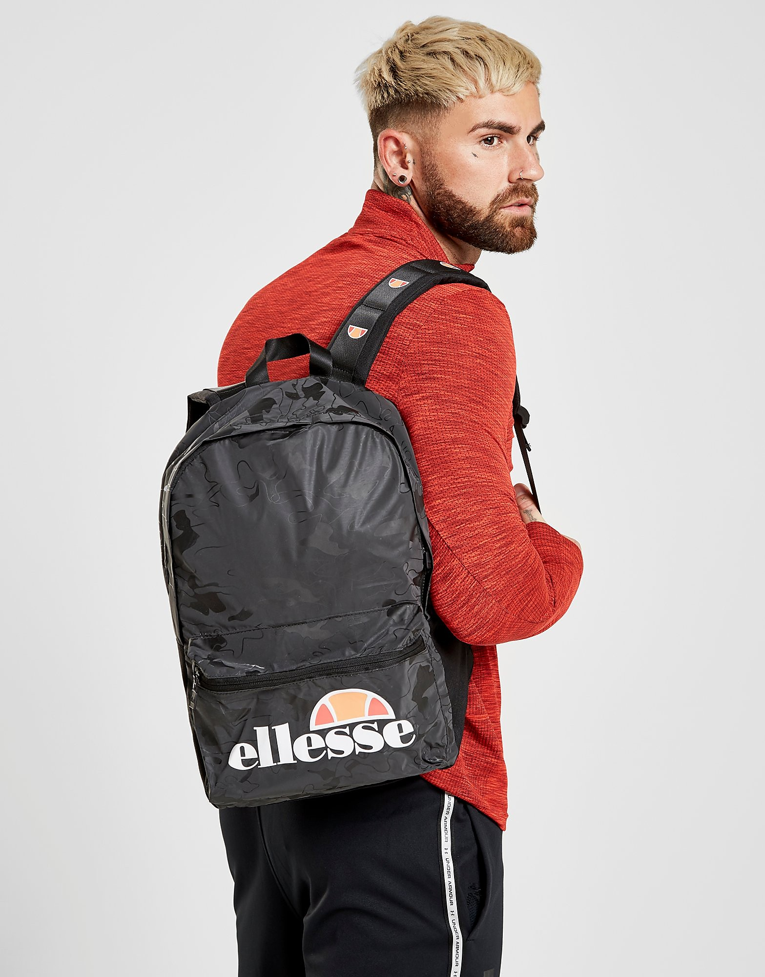 Ellesse Camo Backpack - alleen bij JD - Zwart - Heren