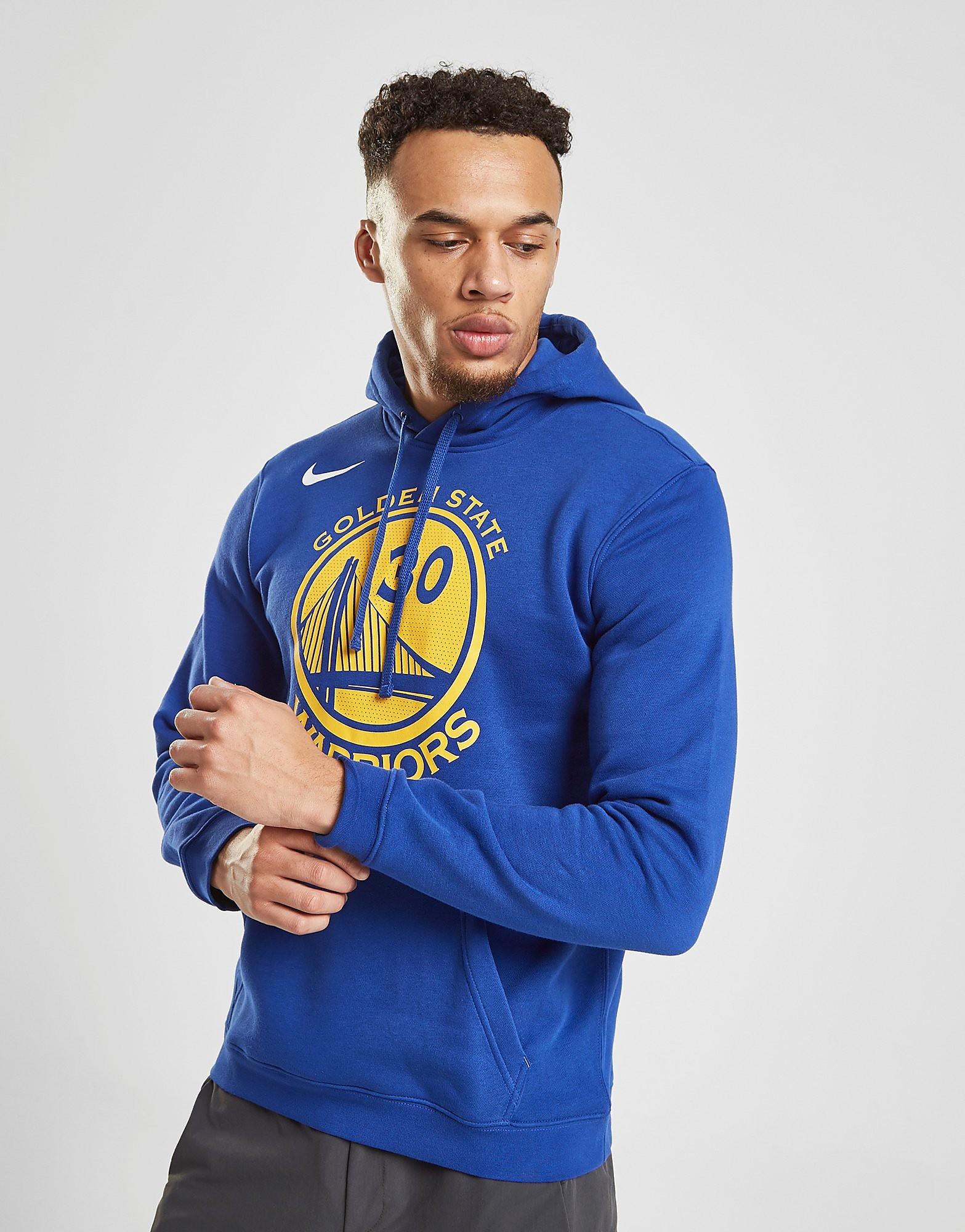 Nike NBA Golden State Warriors City Hoodie Heren - Blauw - Heren