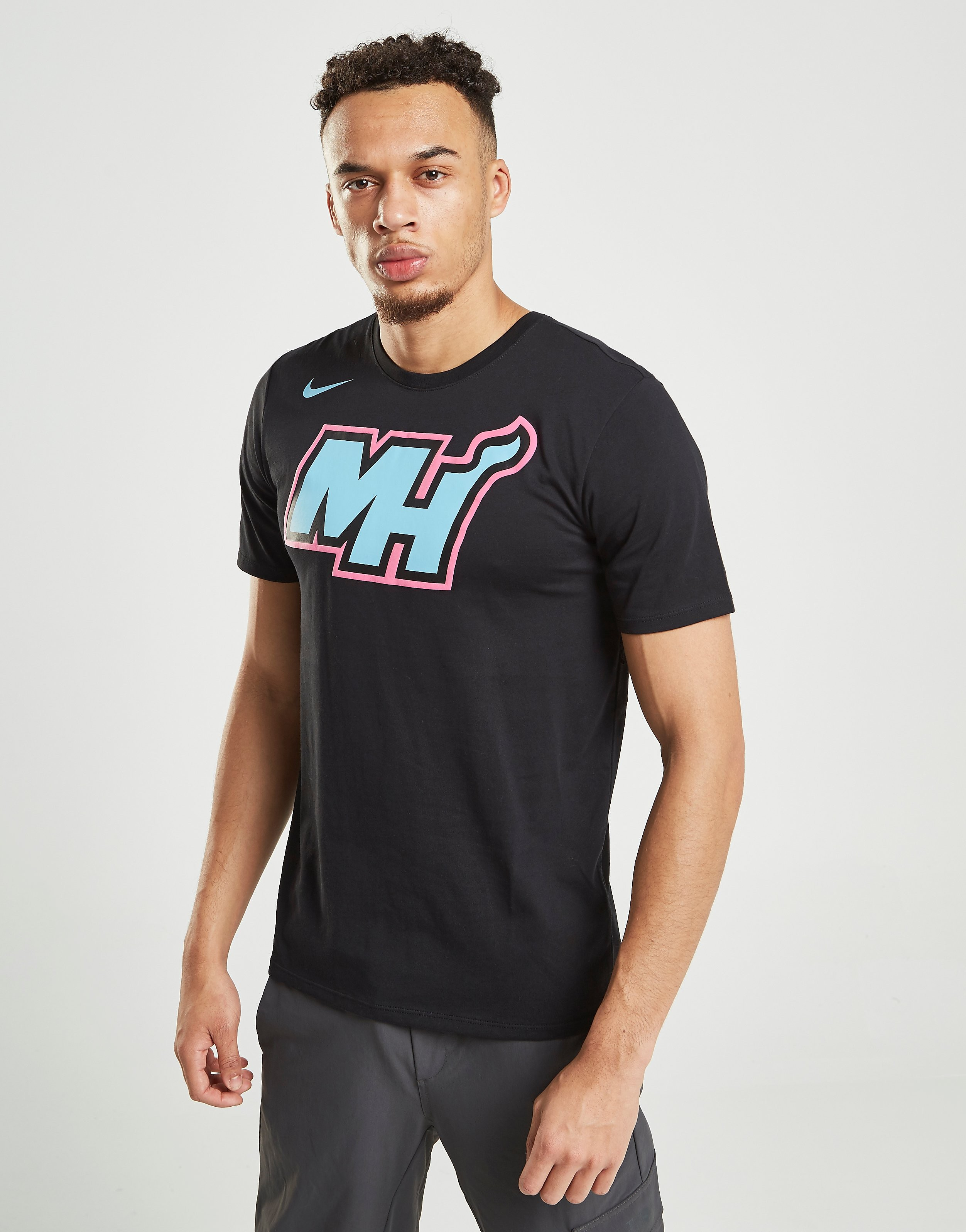 Nike NBA Miami Heat City T-Shirt - Zwart - Heren