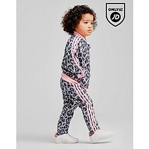 72ff7d830818 ... adidas Originals Girls  Leopard Superstar Tracksuit Infant