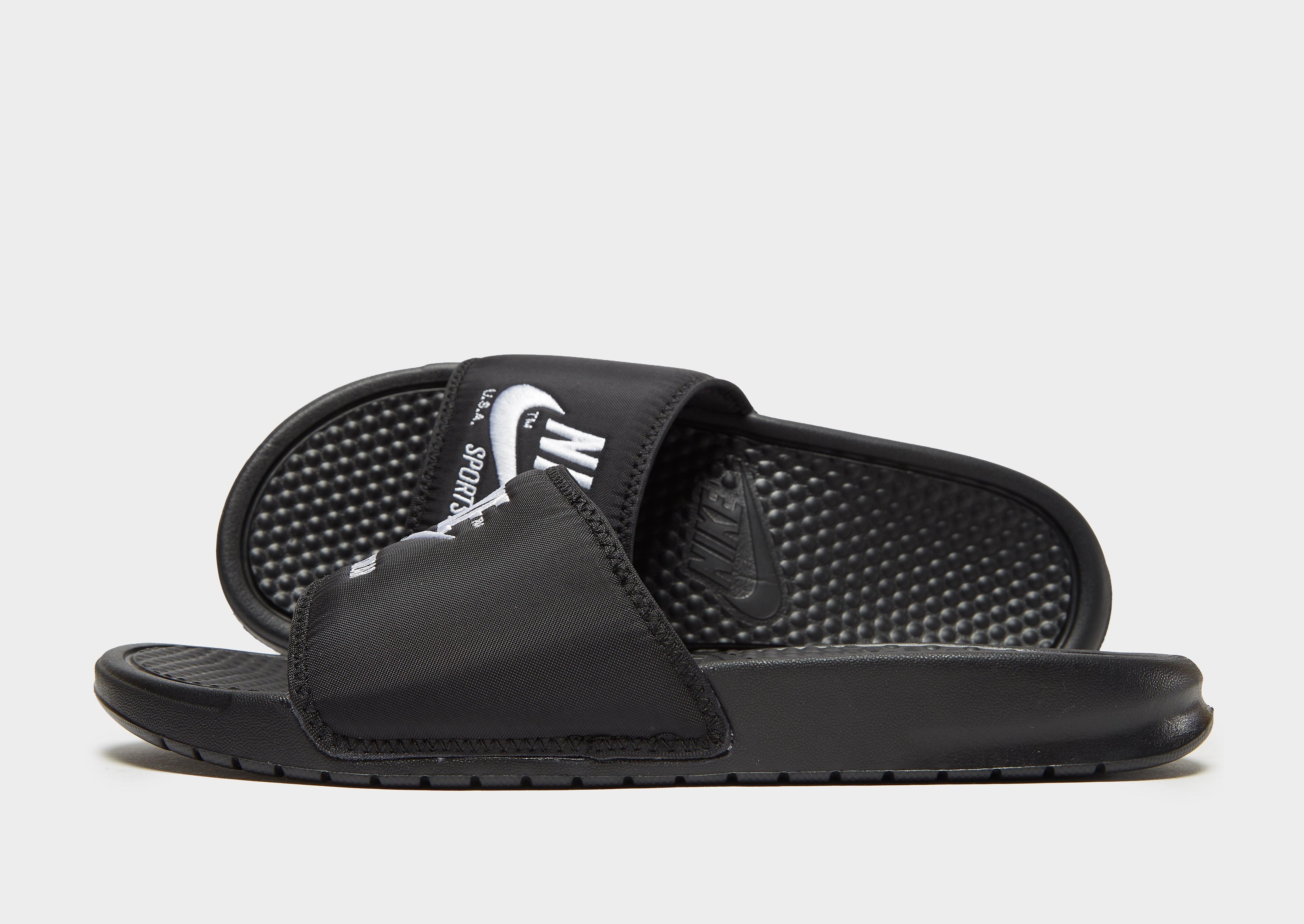 Nike Sportswear Benassi Text Slides - Zwart - Heren