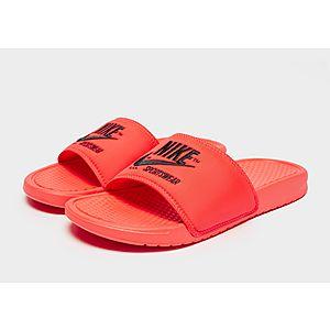 c2d2ae6ff Nike Sportswear Benassi Text Slides Nike Sportswear Benassi Text Slides