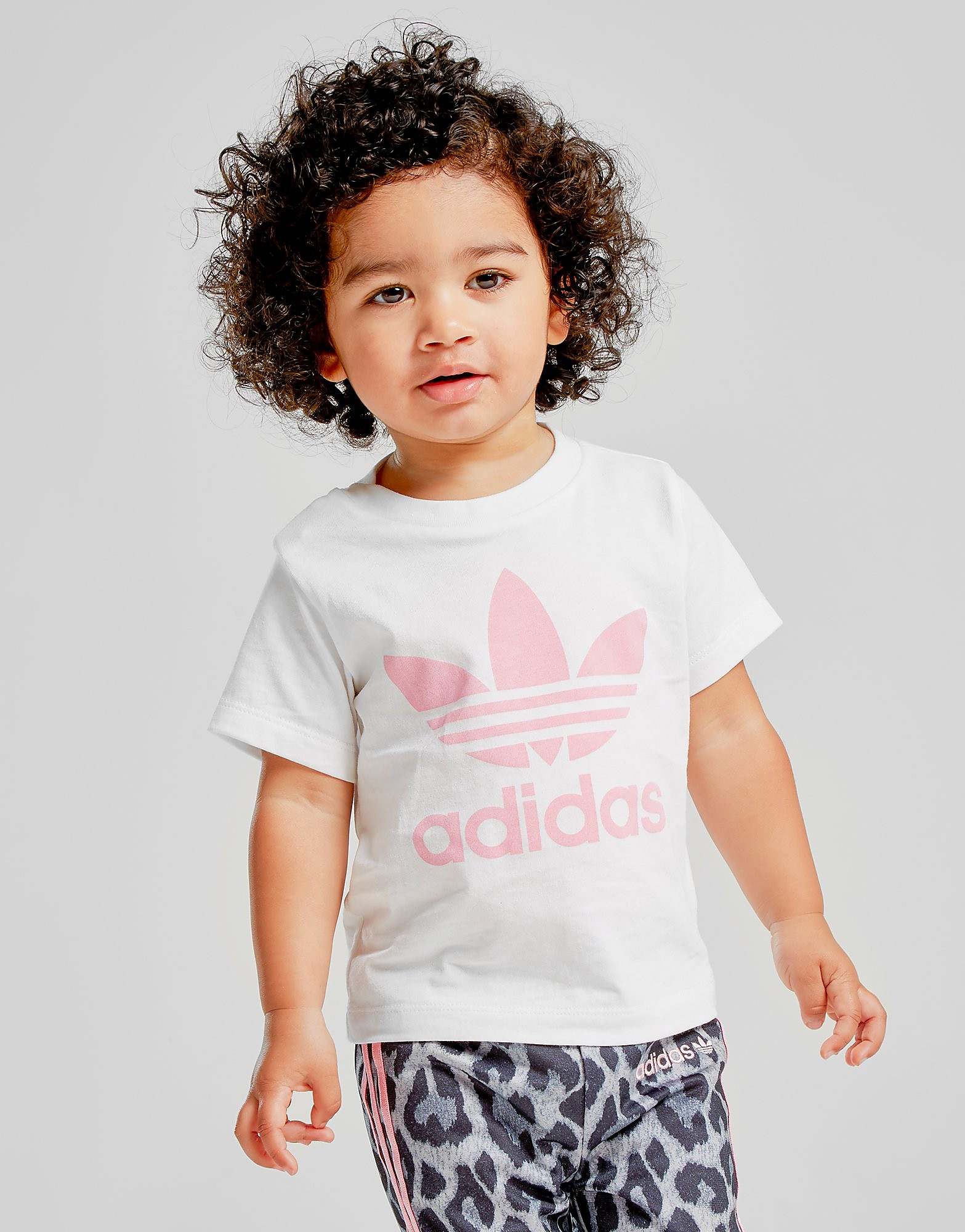 adidas Originals Girls' Trefoil T-Shirt Baby's - Wit - Kind