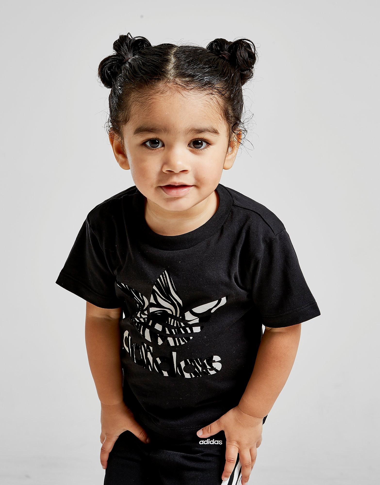 adidas Originals Girls' Zebra Infil T-Shirt Baby's - Zwart - Kind