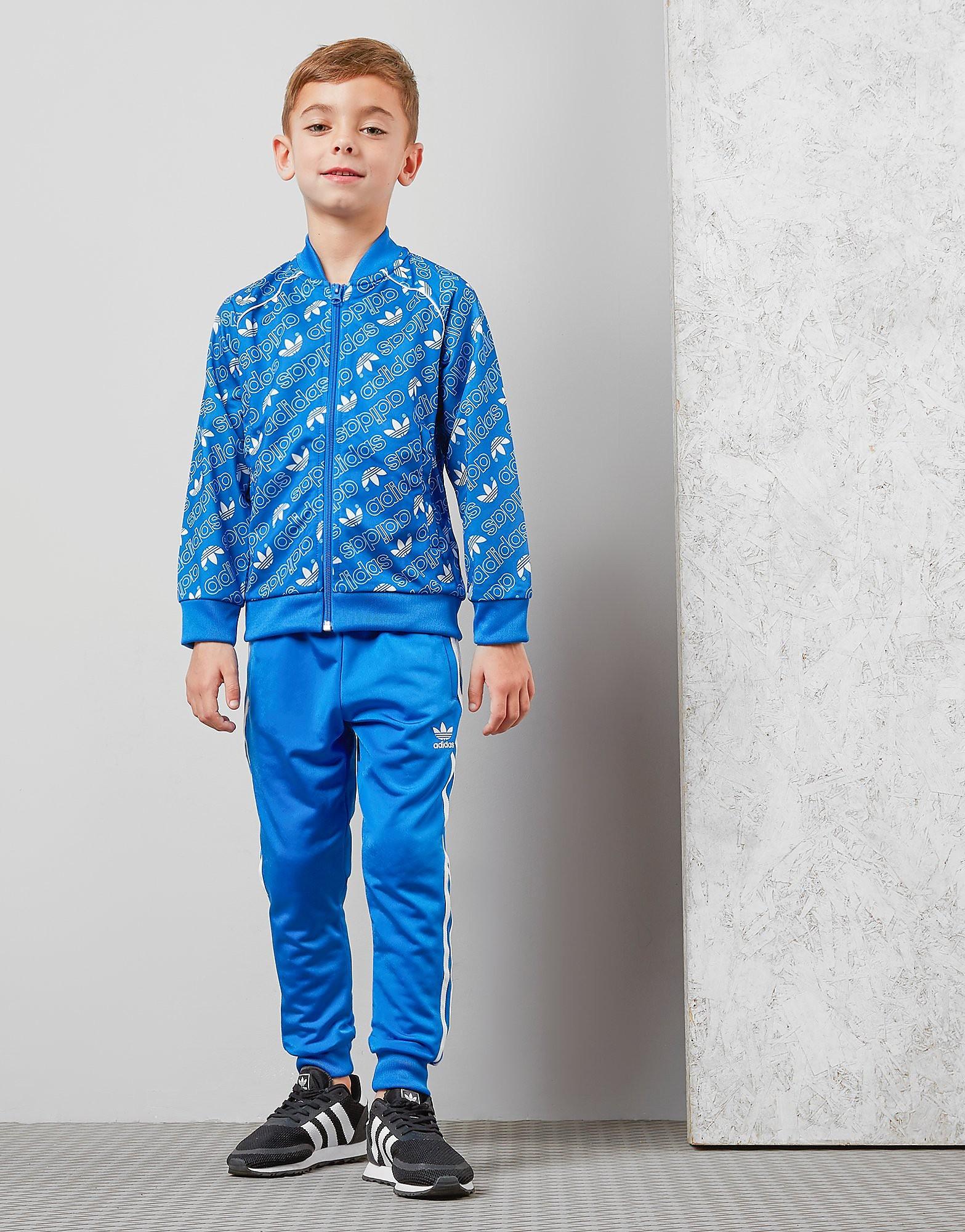 adidas Originals All Over Print Superstar Tracksuit Children - Blau - Kids, Blau