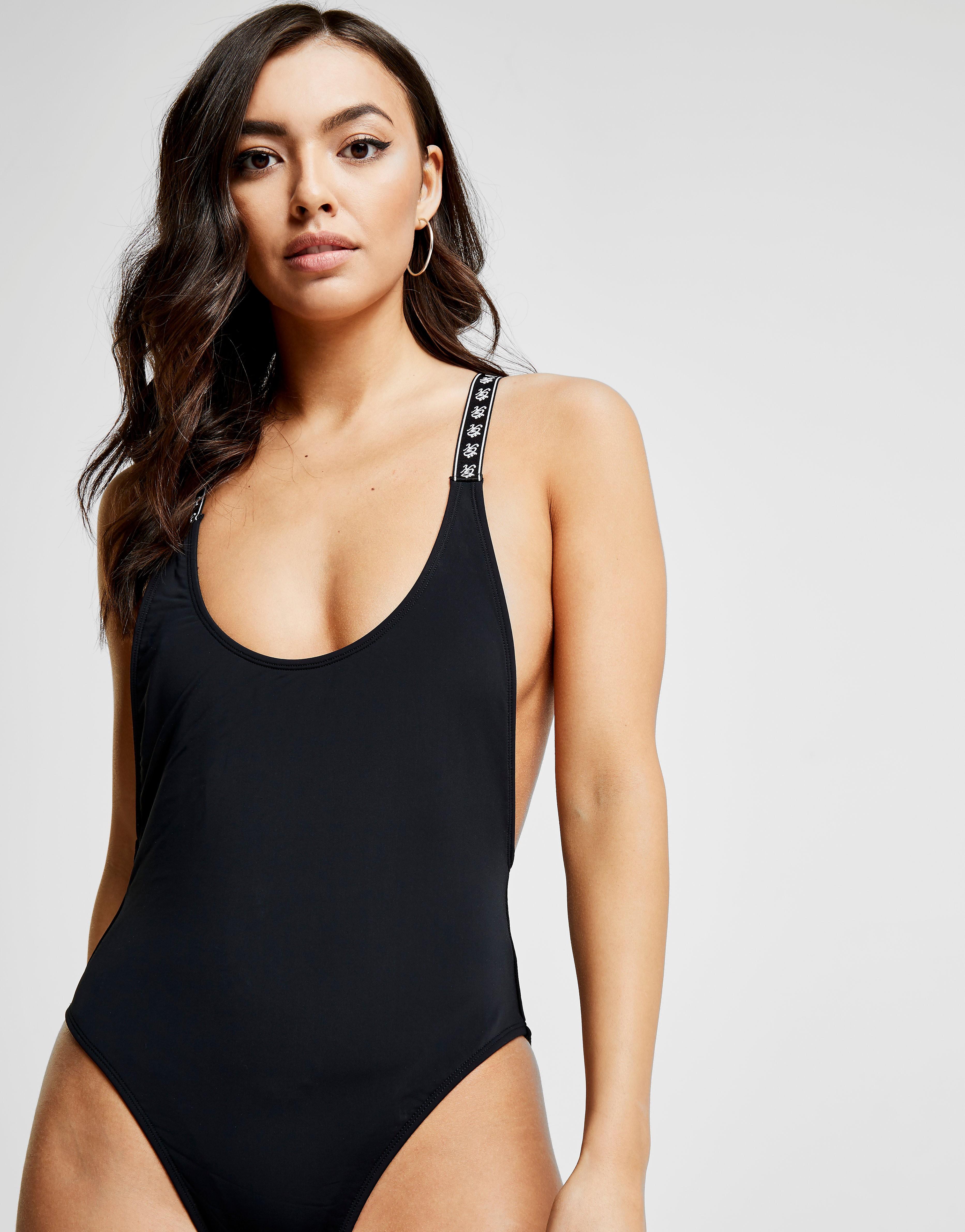 Gym King Tape Swimsuit - Zwart - Dames