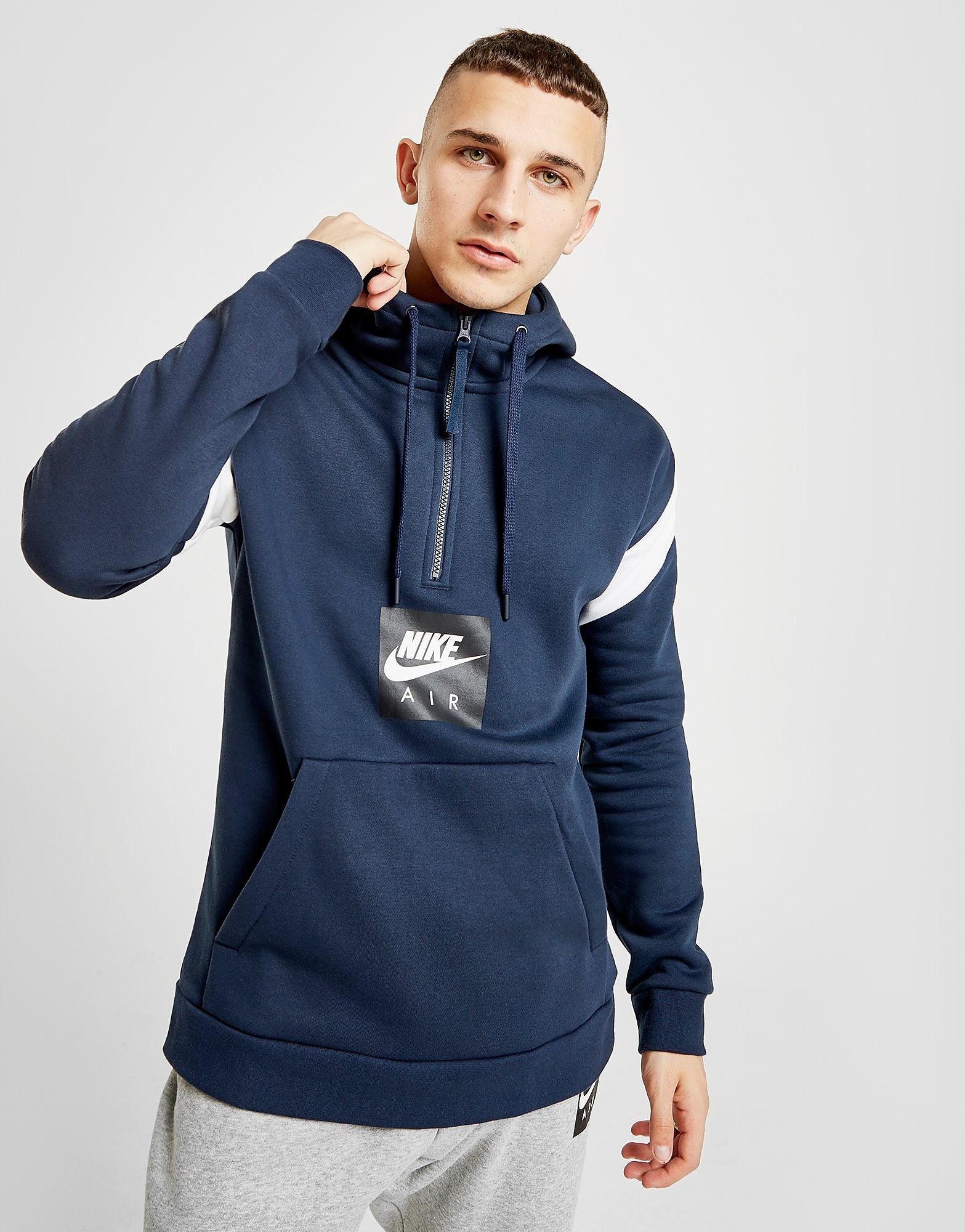 Nike Air 1/2 Zip Fleece Hoodie Heren - Blauw - Heren