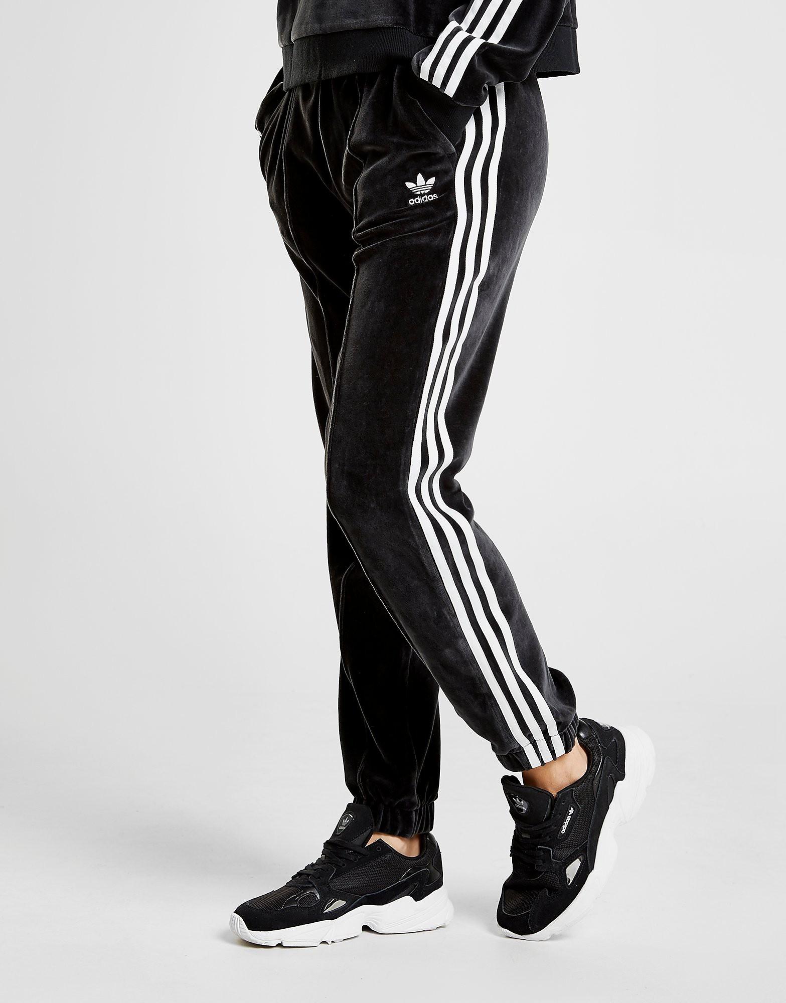 adidas Originals 3-Stripes Velvet Track Pants Dames - alleen bij JD - Zwart - Dames