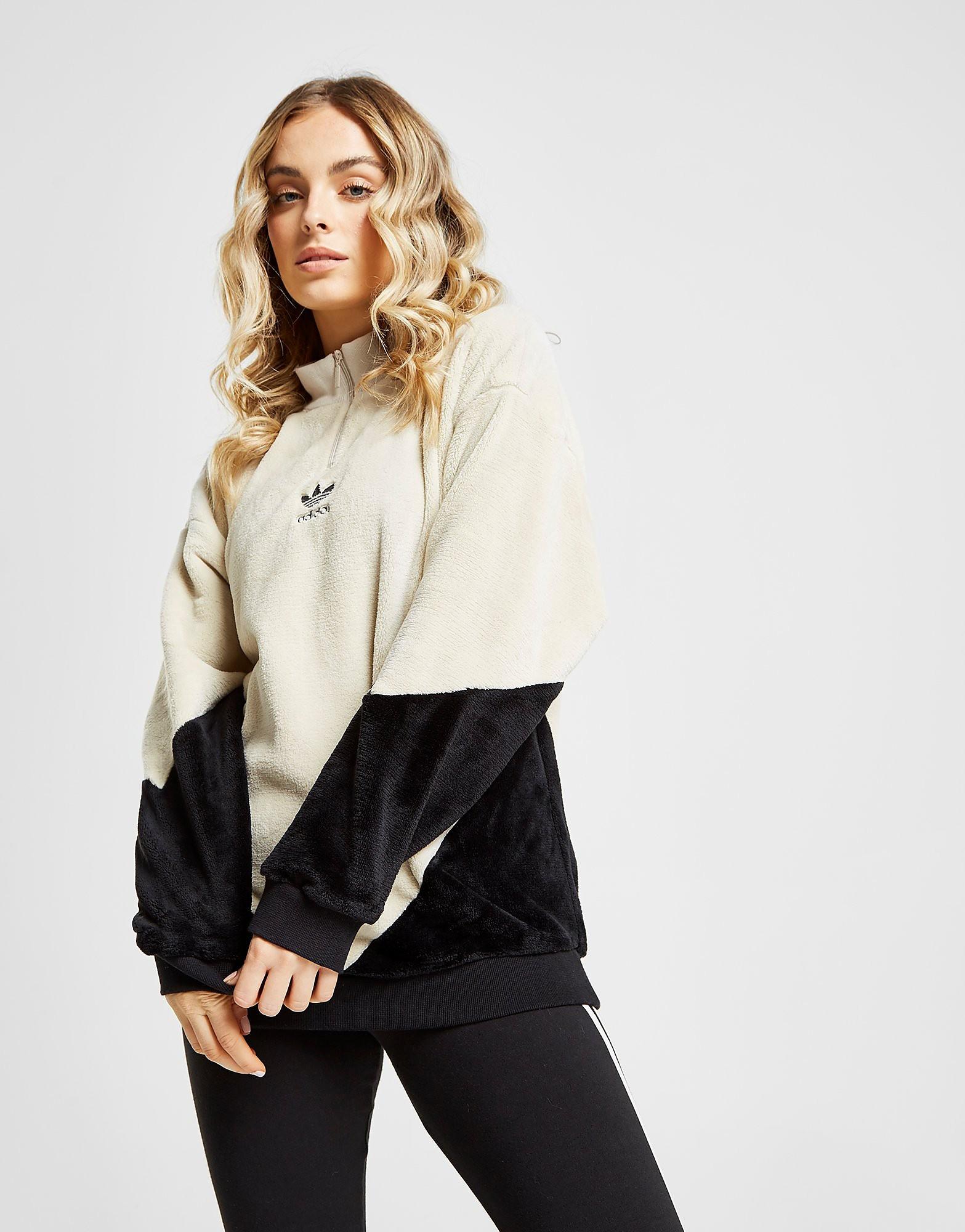 adidas Originals Polar Fleece 1/4 Zip Track Top Dames - Bruin - Dames
