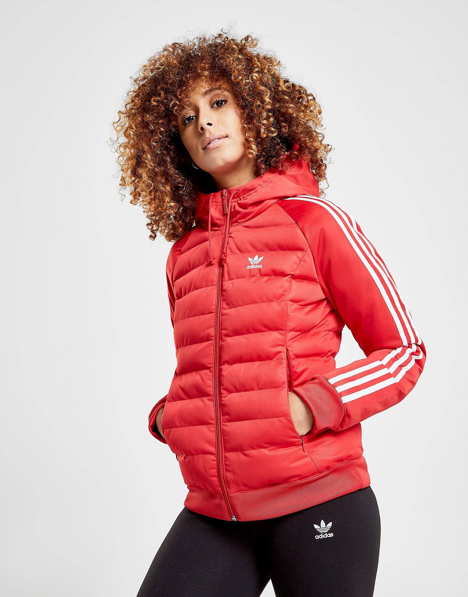adidas Originals 3-Stripes Padded Jacket - Rot - Womens, Rot
