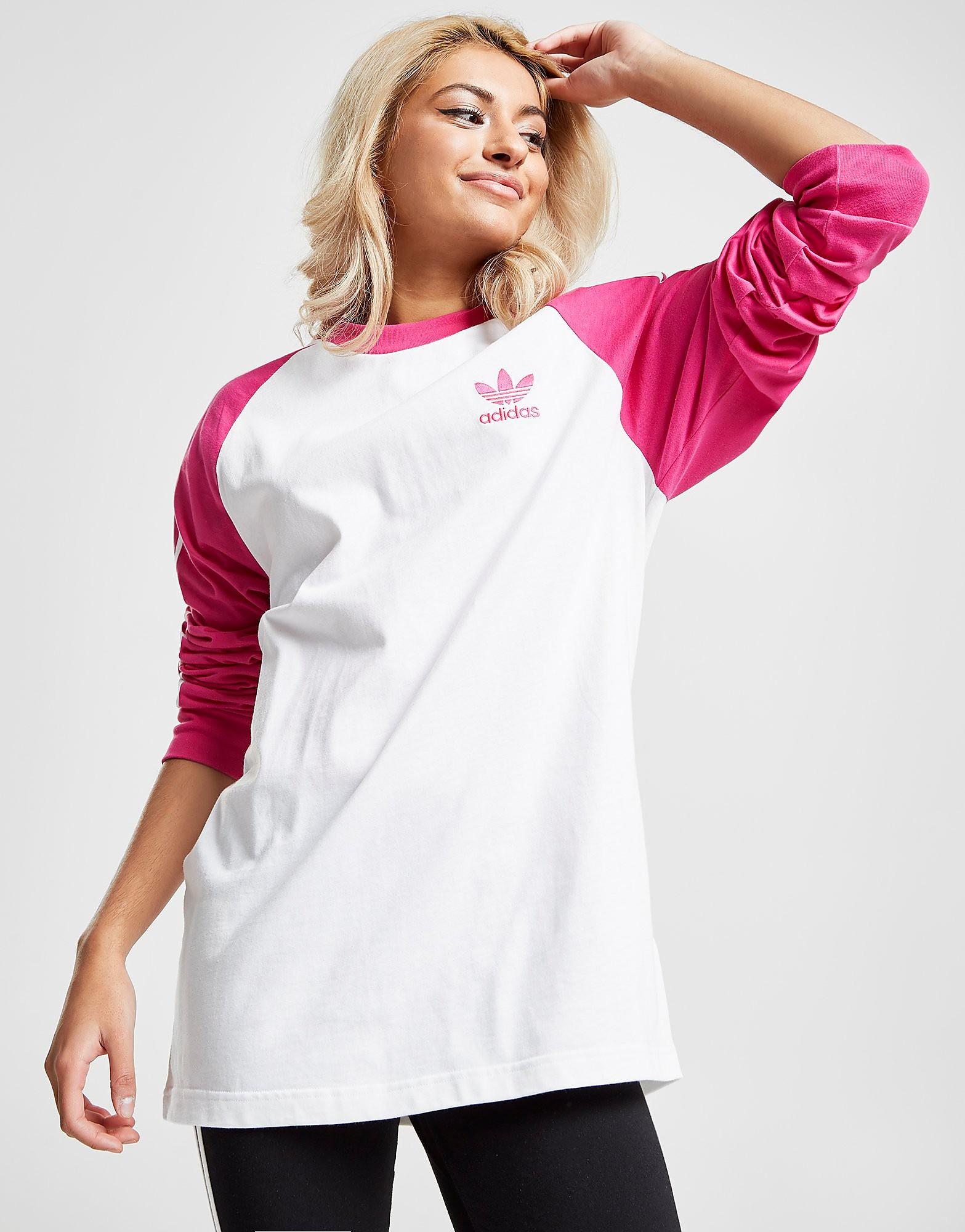 adidas Originals Long Sleeve Raglan California T-Shirt Dames - Wit - Dames