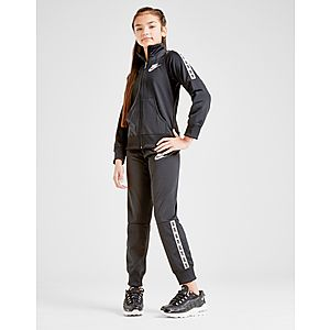 6d66491476ff5 Nike Girls  Poly Tape Tracksuit Junior ...
