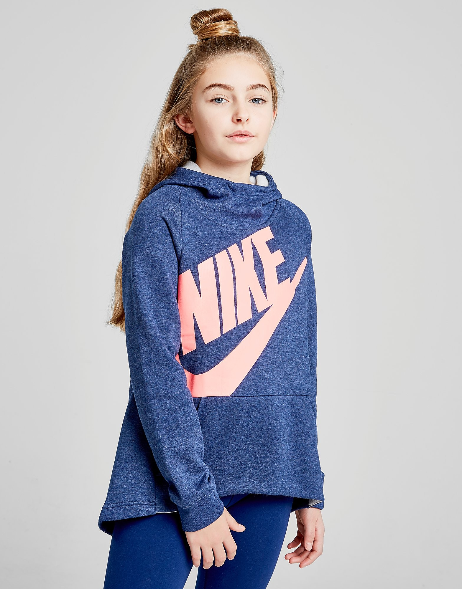 Nike Girls' Futura Hoodie Junior - Blauw - Kind