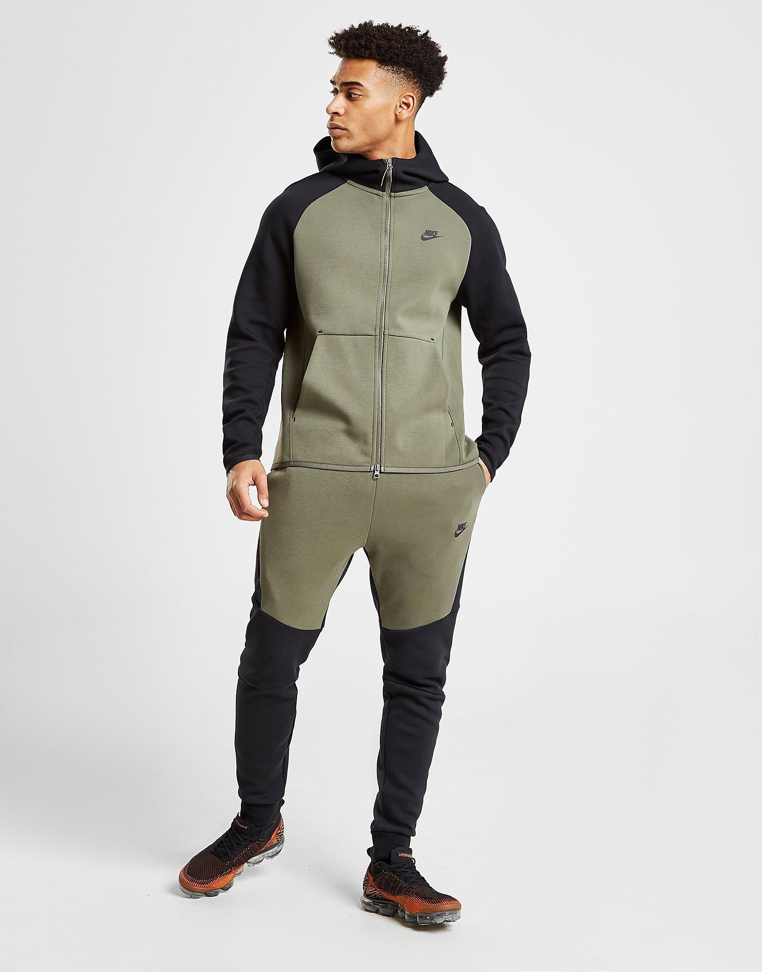 Nike Colour Block Tech Track Pants Heren - Groen - Heren