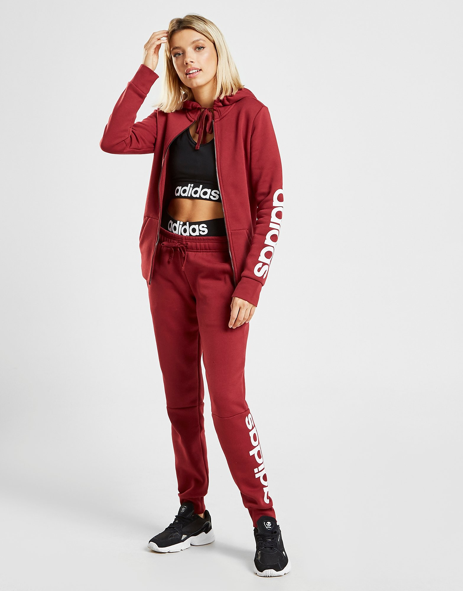 adidas Essential Linear Joggers - Rood - Dames