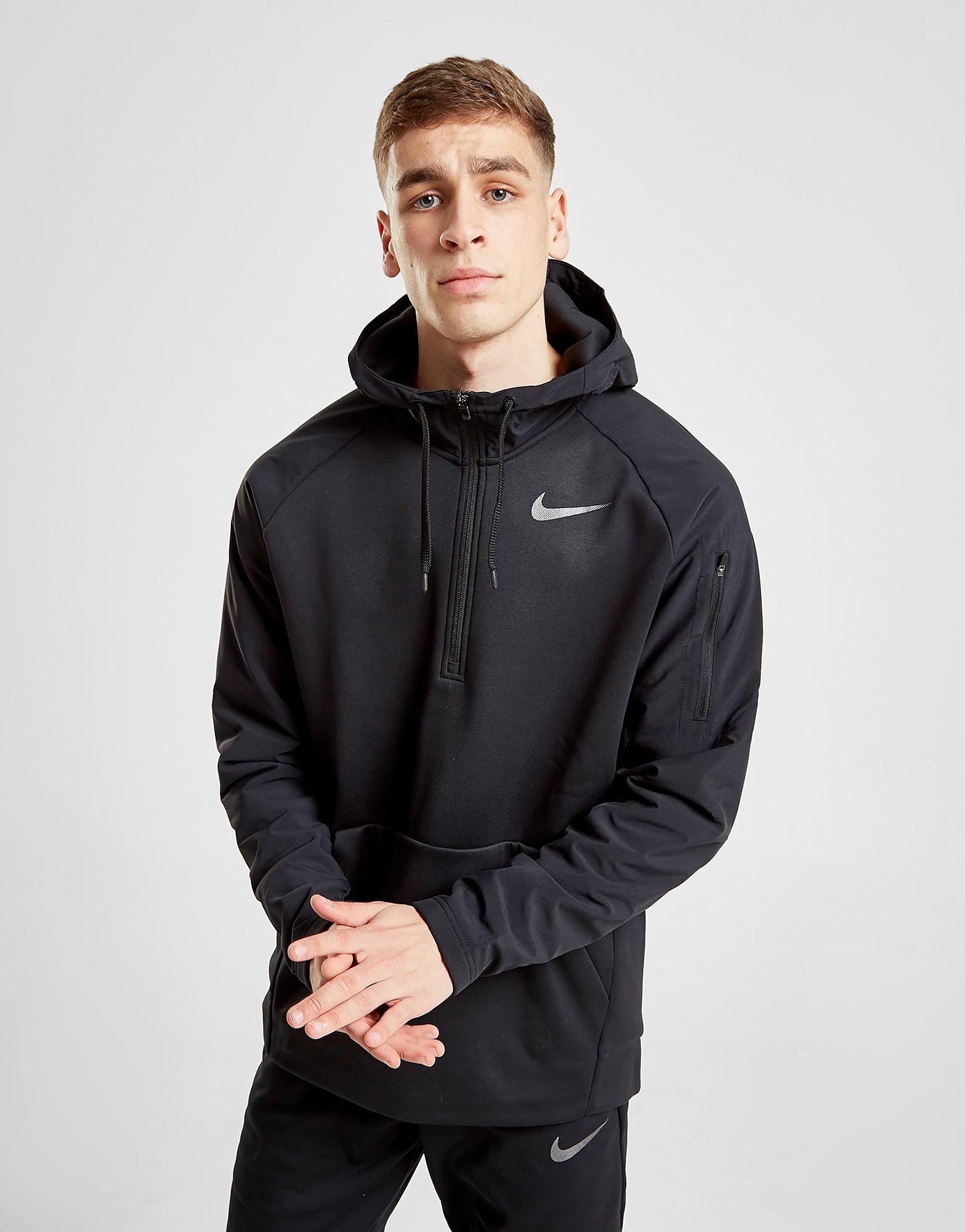 Nike Training Utility 1/2 Zip Hoodie Heren - Zwart - Heren