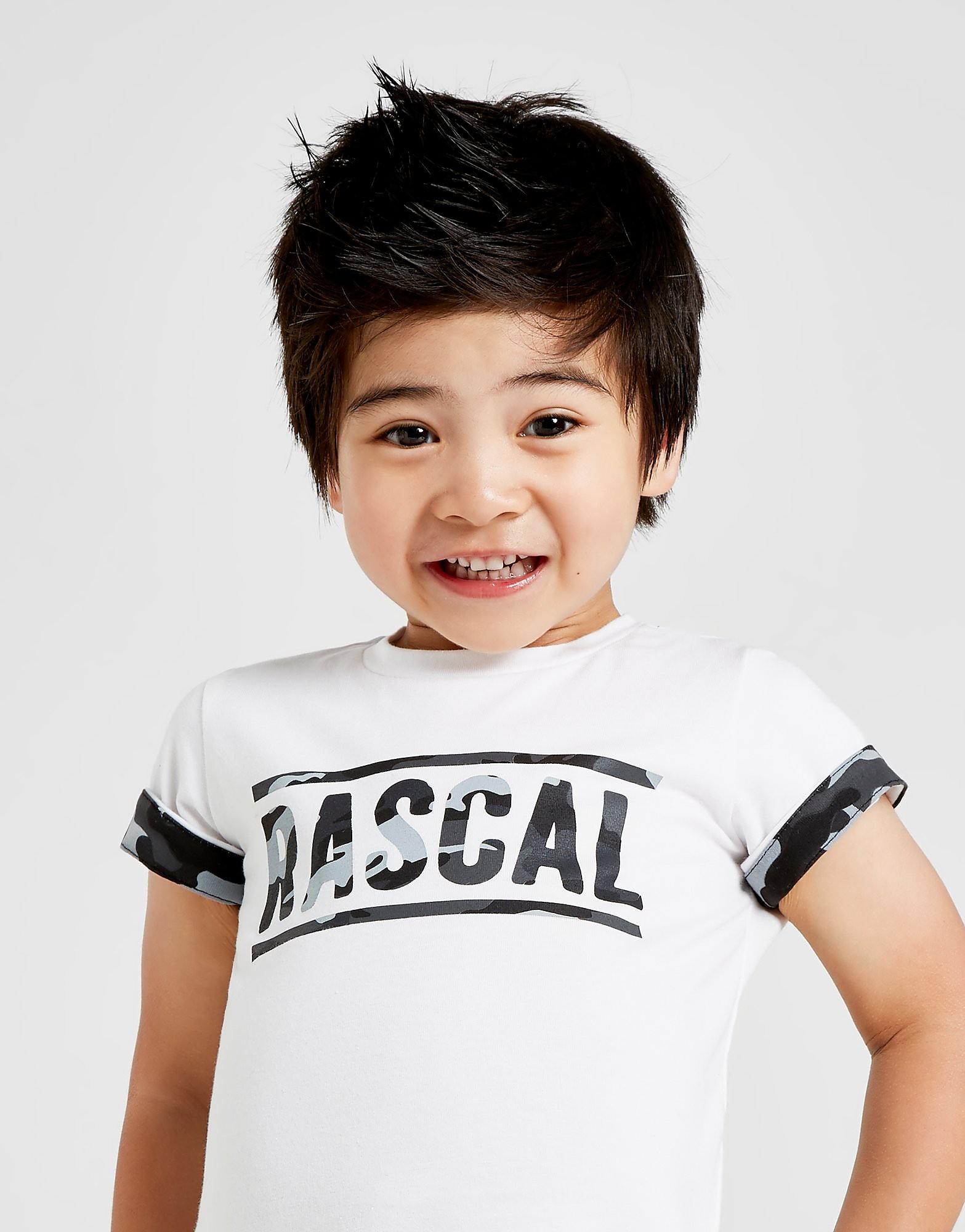 Rascal Camo Infill T-Shirt Baby's - Wit - Kind