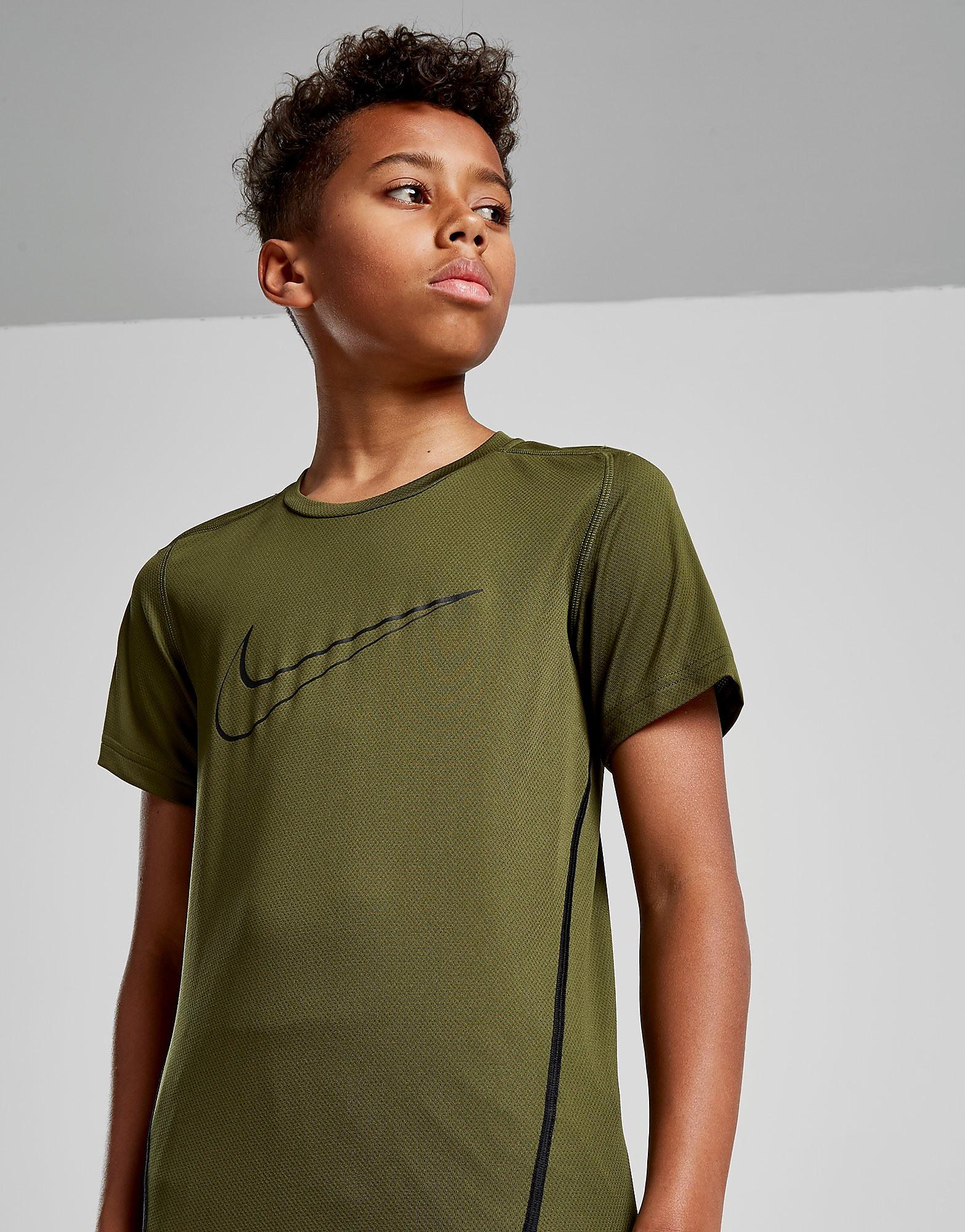 Nike Swoosh Poly T-Shirt Junior - Olive/Black - Kind