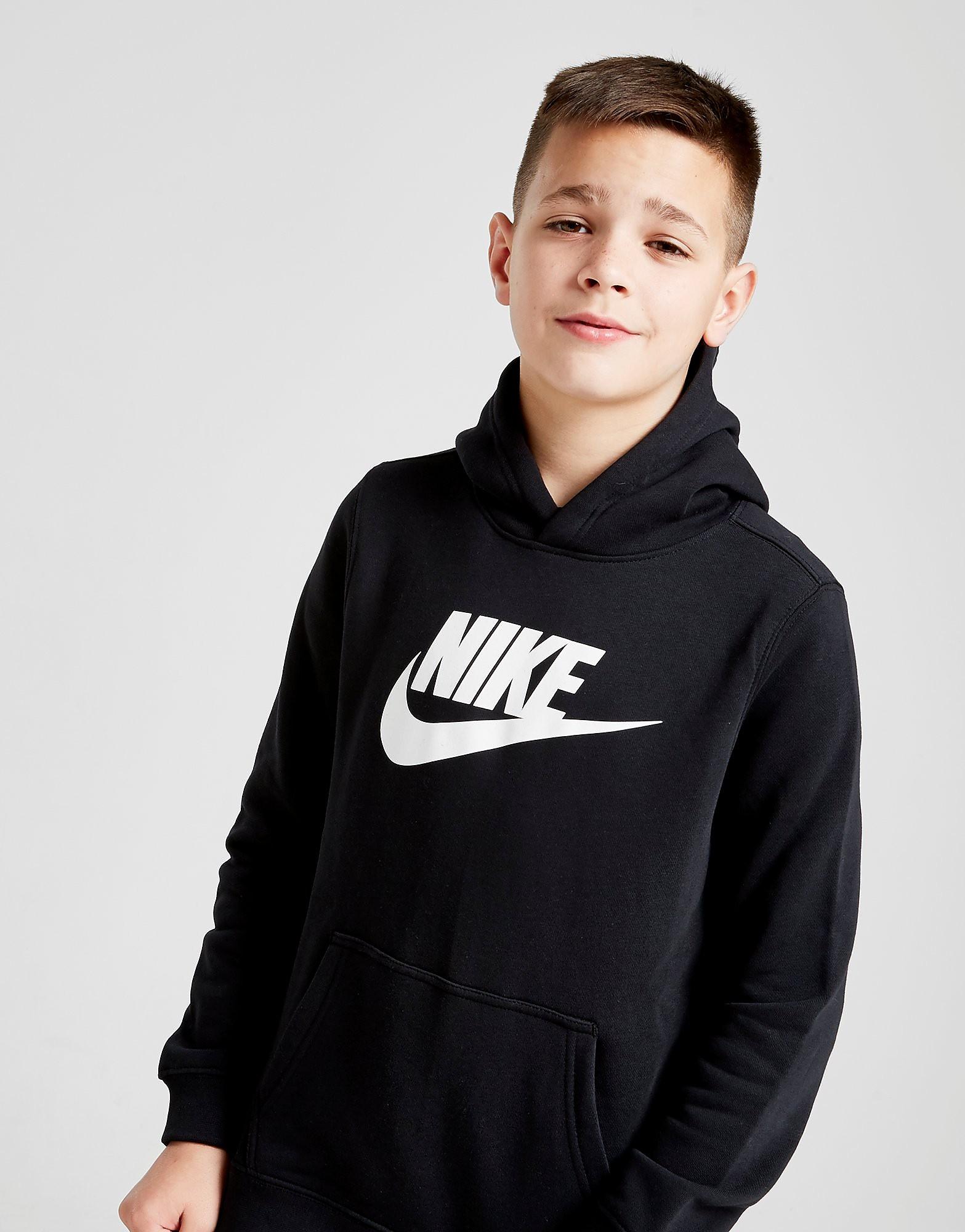 Nike Club Logo Hoodie Junior - Zwart - Kind