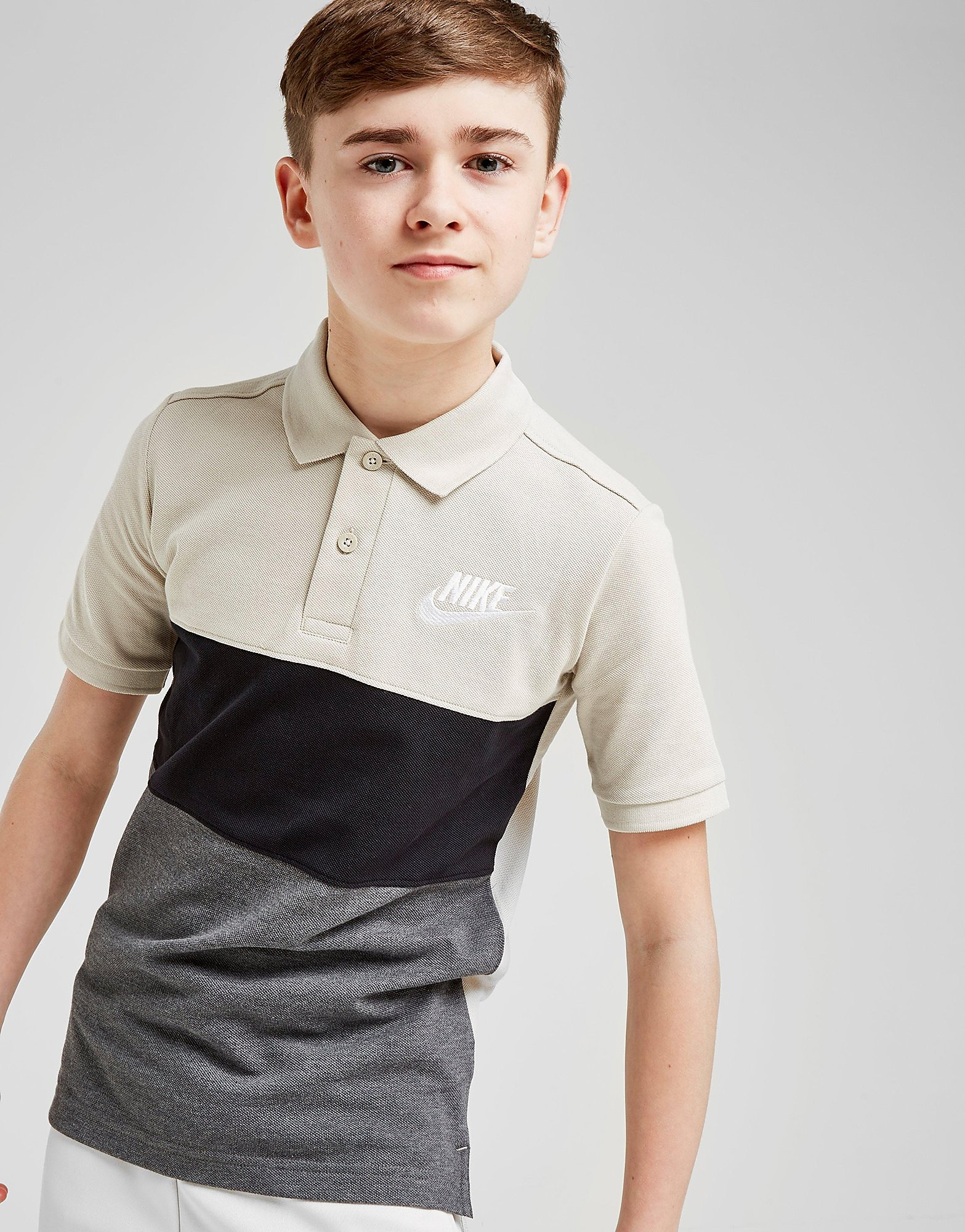 Nike Colour Block Polo Shirt Junior - Crème - Kind