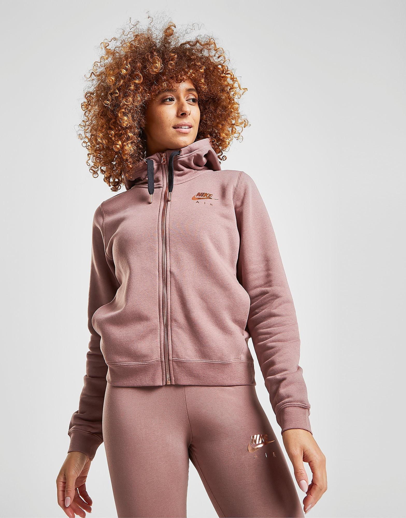 Nike Air Full Zip Hoodie - Bruin - Dames