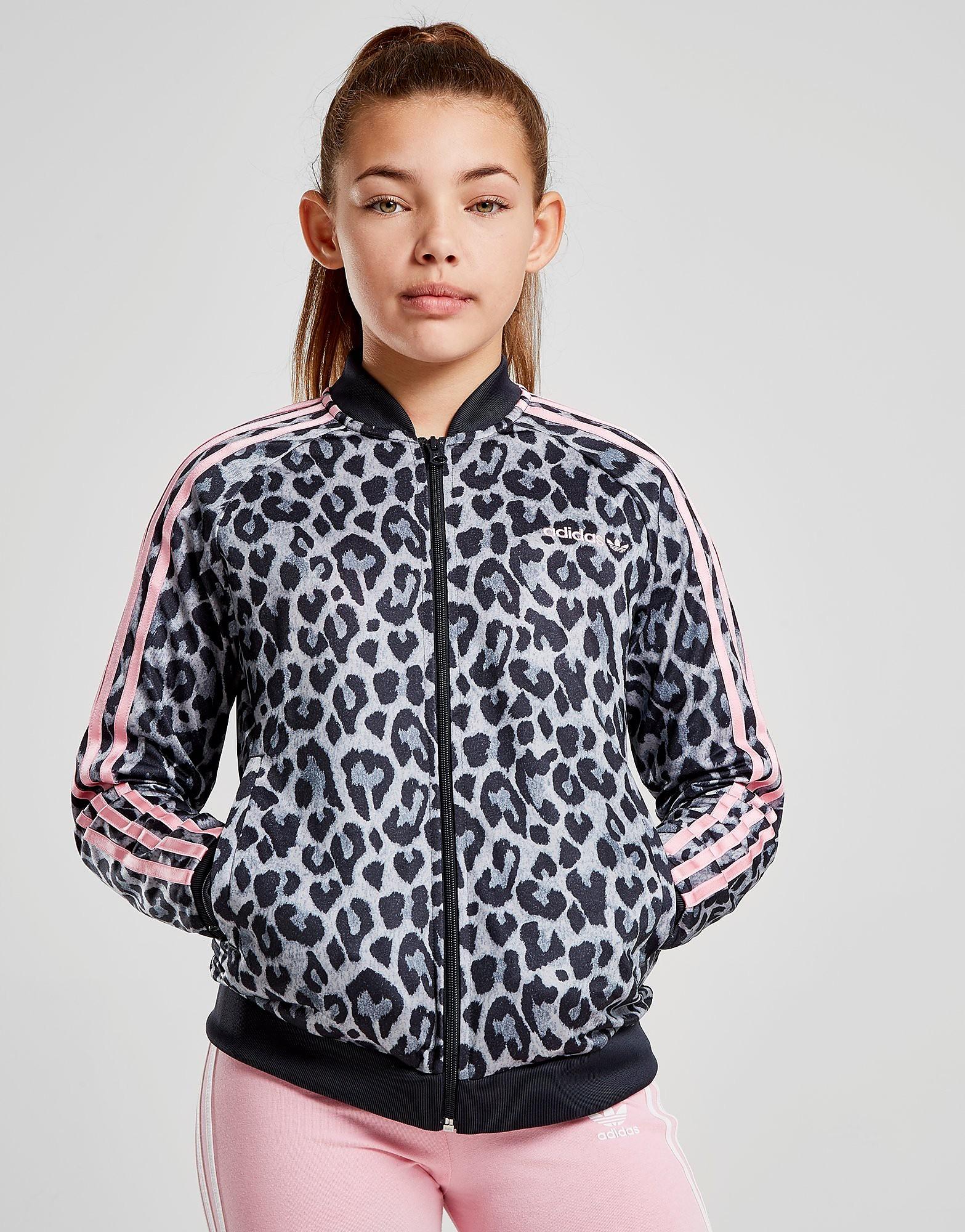 adidas Originals Girls' Leopard Superstar Track Top Junior - alleen bij JD - Grijs - Kind