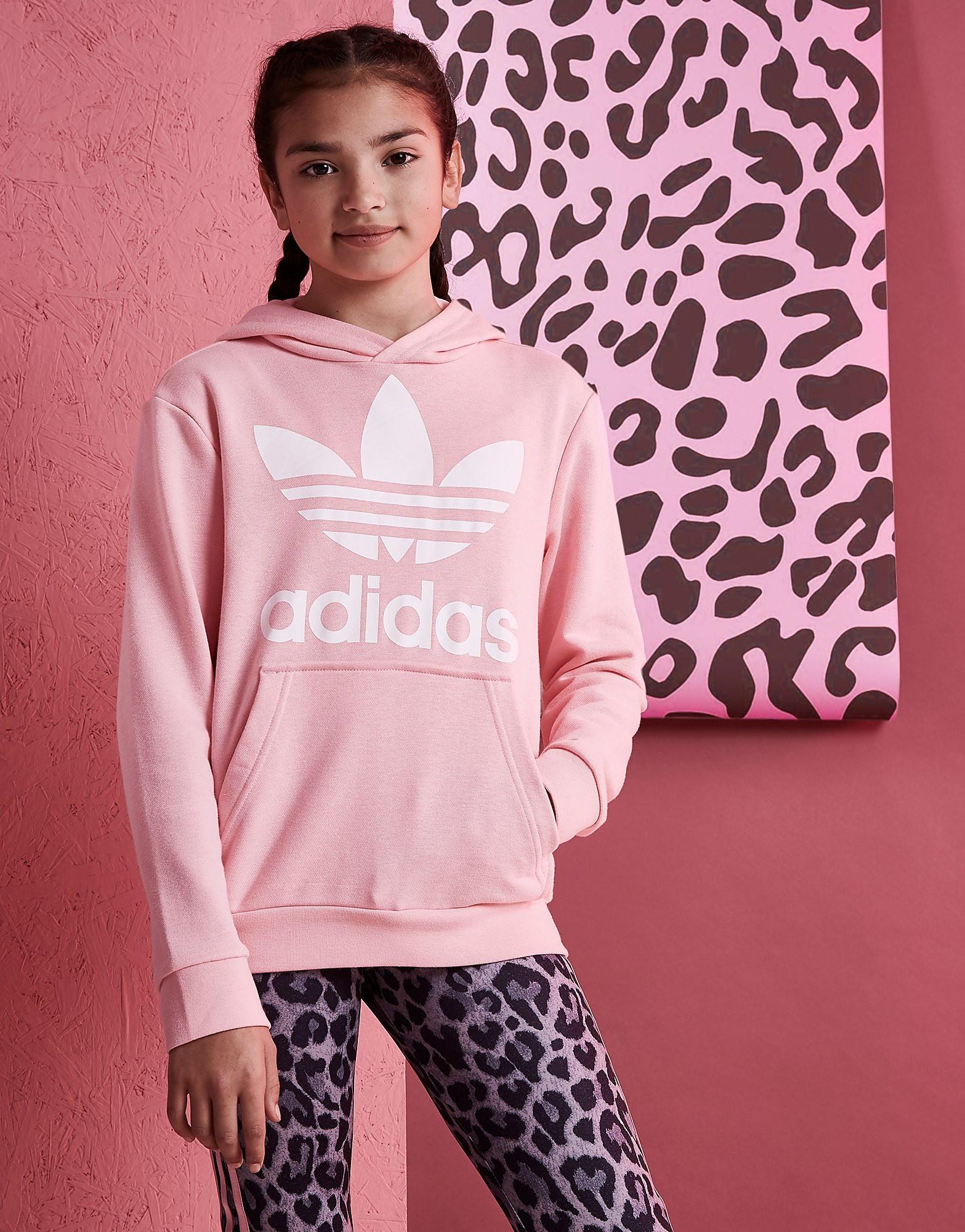 adidas Originals Girls' Trefoil Hoodie Junior - alleen bij JD - Roze - Kind
