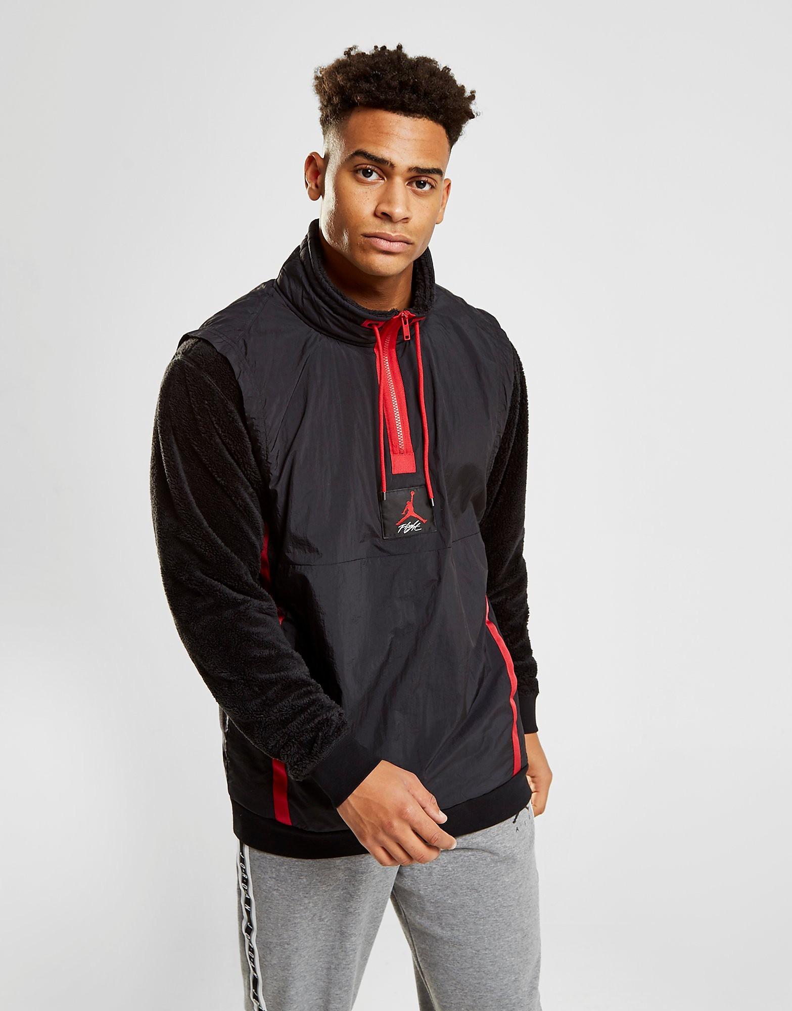 Jordan 1/4 Zip Hybrid Sherpa Sweatshirt - Zwart - Heren