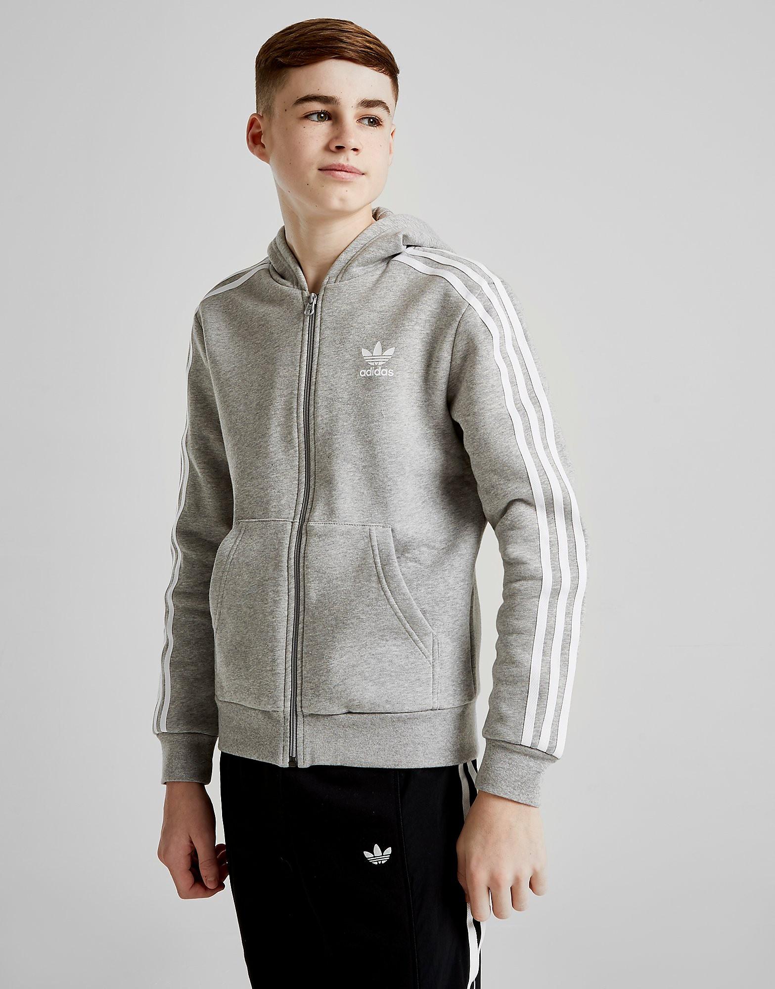 43baf01af7c adidas originals Adidas Originals Trefoil Full Zip Hoodie Junior Grijs Kind  adidas originals kopen in de aanbieding