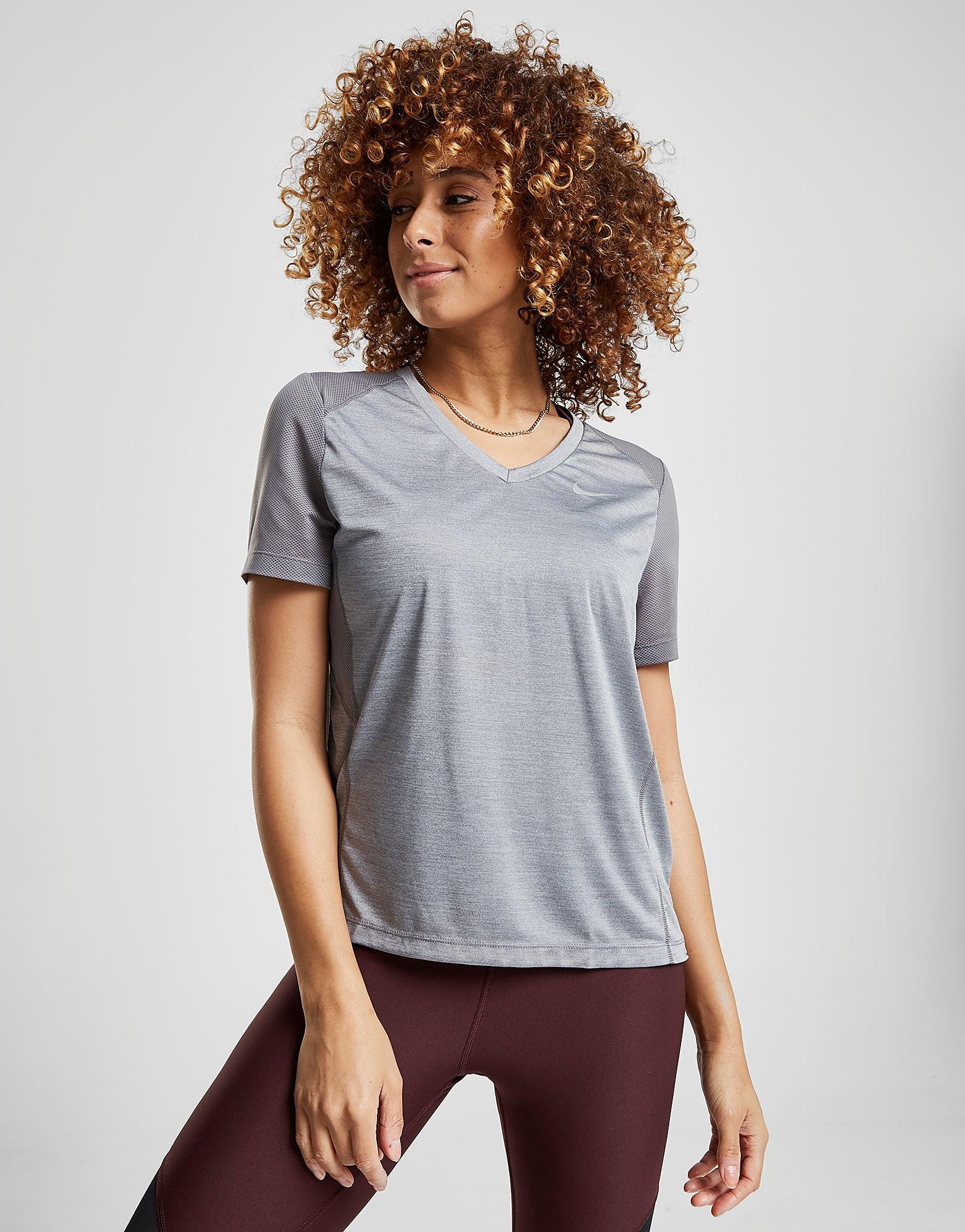 Nike Running Miler Short Sleeve T-Shirt - Grijs - Dames