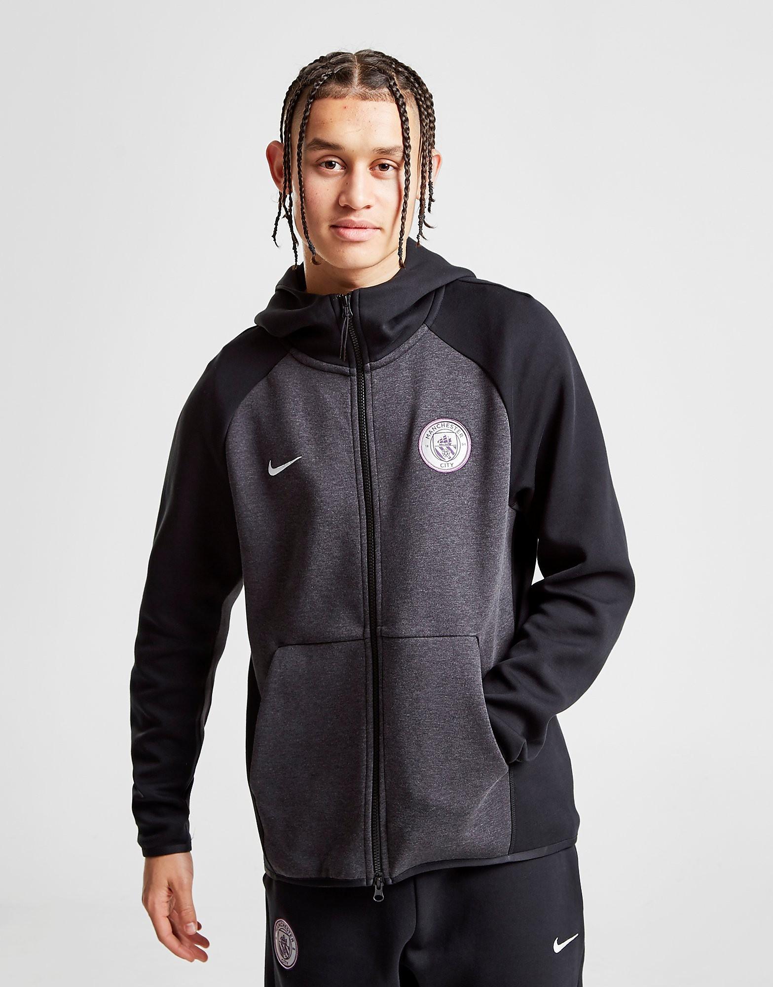 Nike Manchester City FC Tech Hoodie - Zwart - Heren