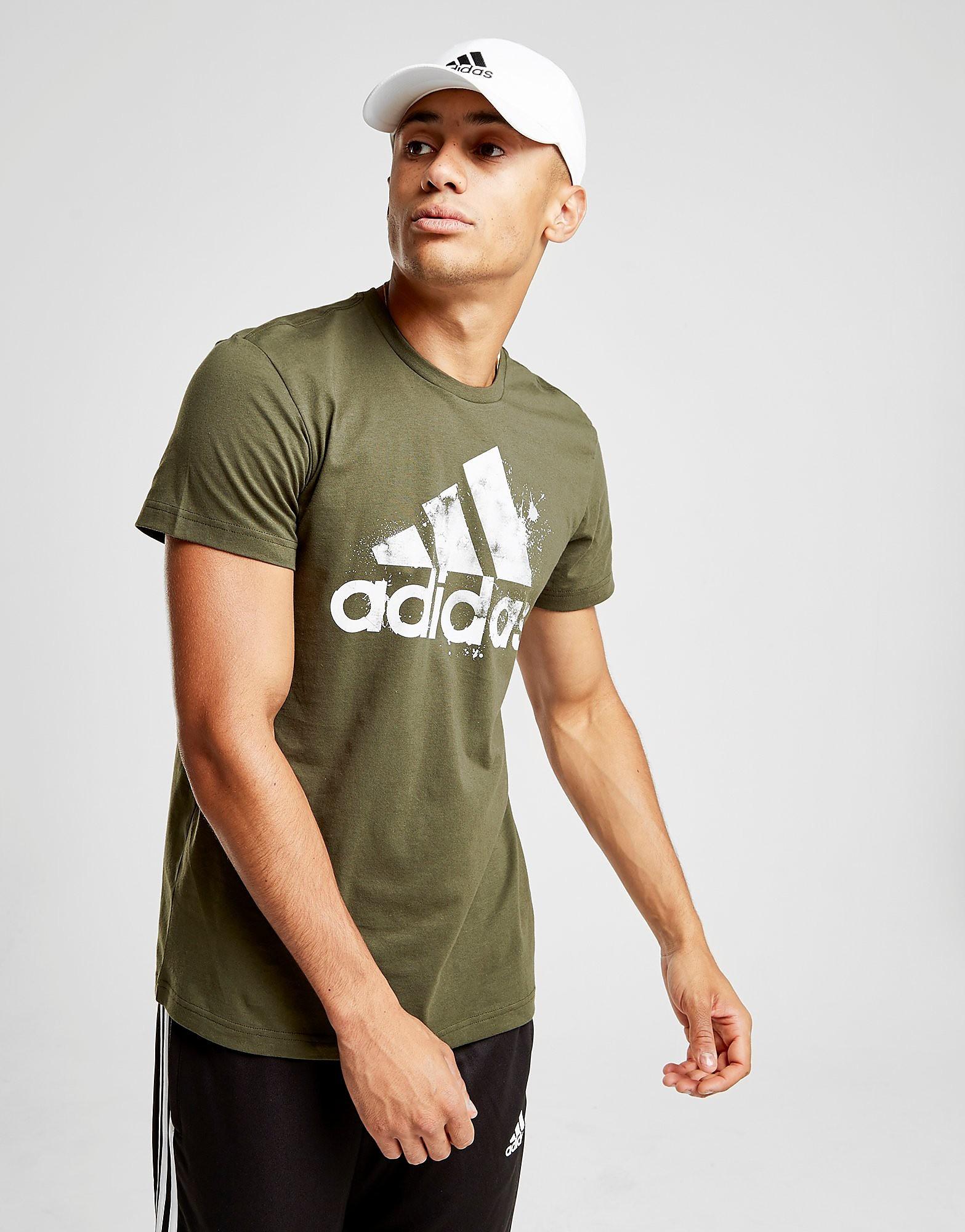adidas Badge Of Sport Splash T-Shirt - alleen bij JD - Groen - Heren