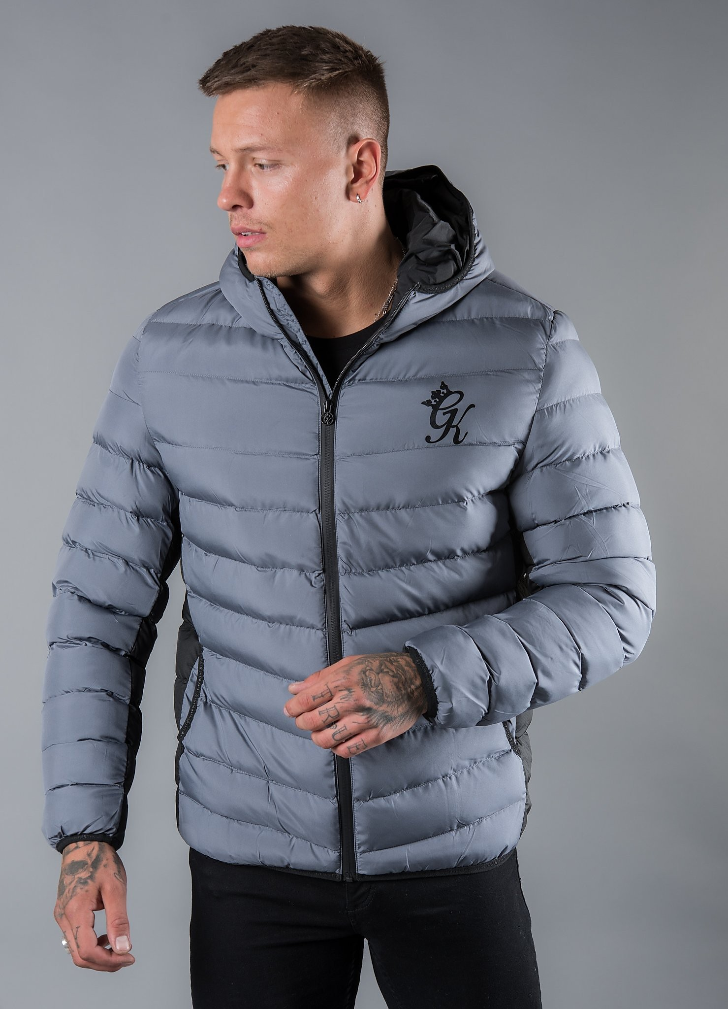 Gym King Bubble Jacket - Grijs - Heren