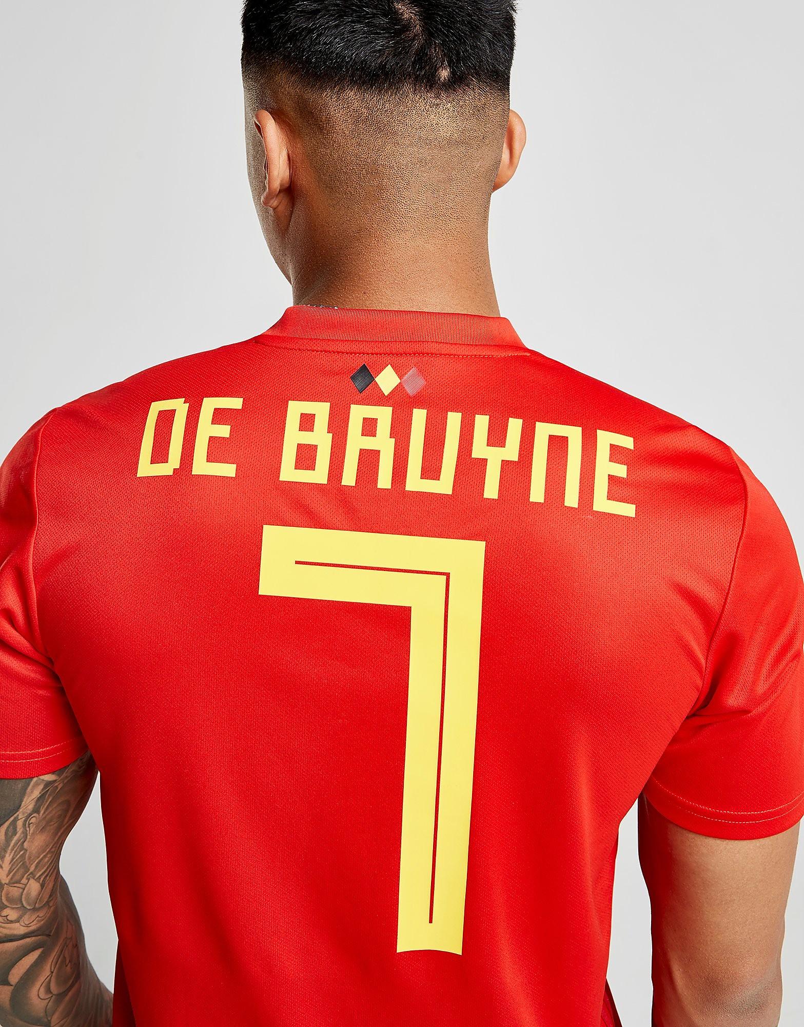 adidas Belgium 2018 De Bruyne #7 Home Shirt