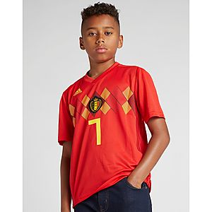 ... adidas Belgium 2018 19 De Bruyne  7 Home Shirt Junior fbc0a6041