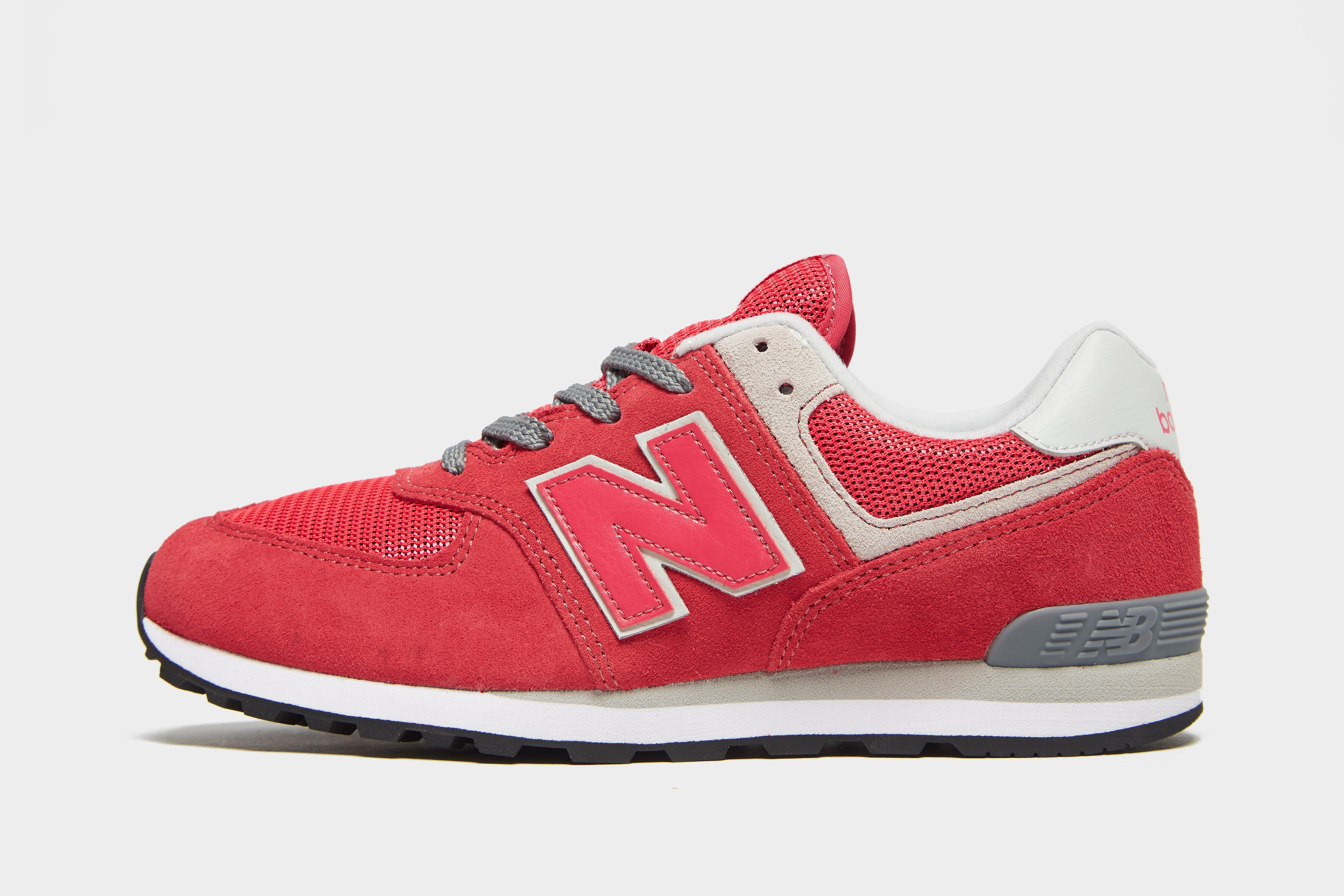 New Balance 574 kindersneaker roze en grijs