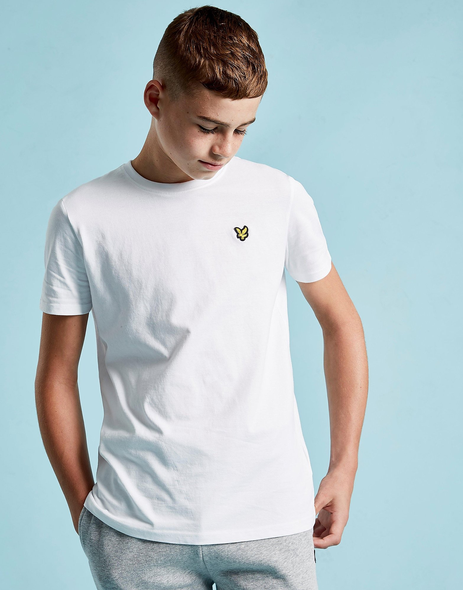 Lyle & Scott Short Sleeve Logo T-Shirt Junior - Wit - Kind