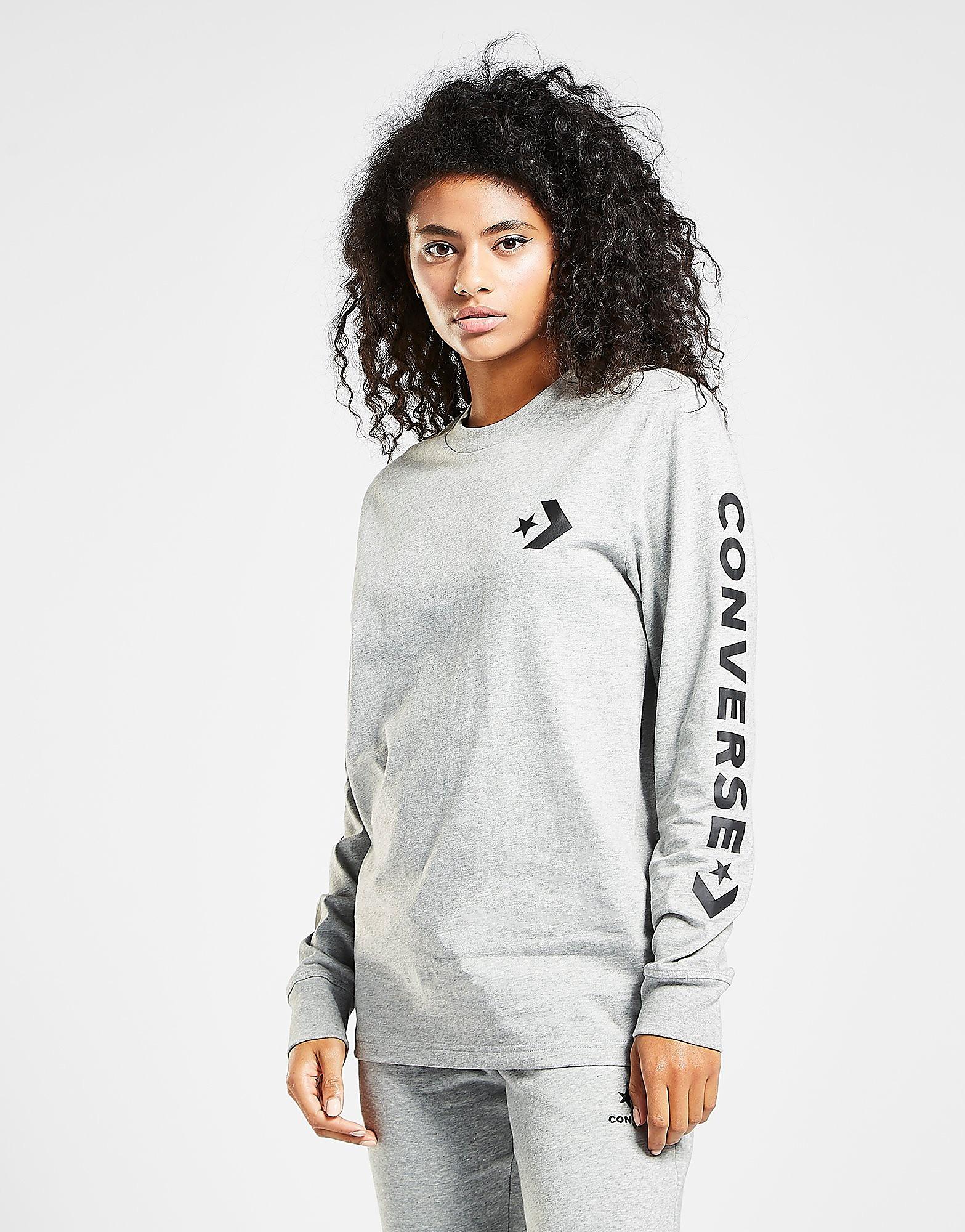 Converse Star Chevron Long Sleeve T-Shirt Dames - Grijs - Dames
