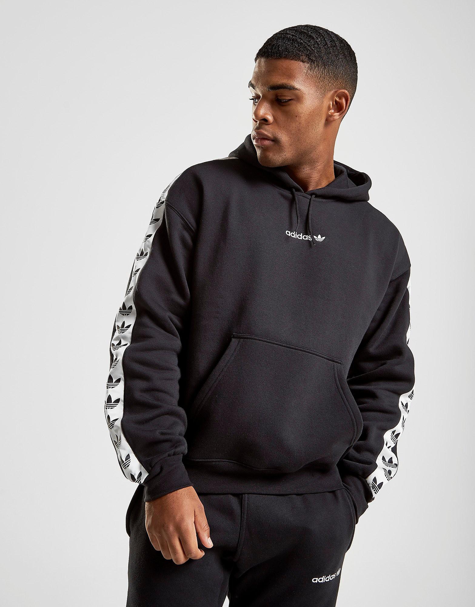 adidas Originals Tape Fleece Overhead Hoodie - alleen bij JD - Zwart - Heren