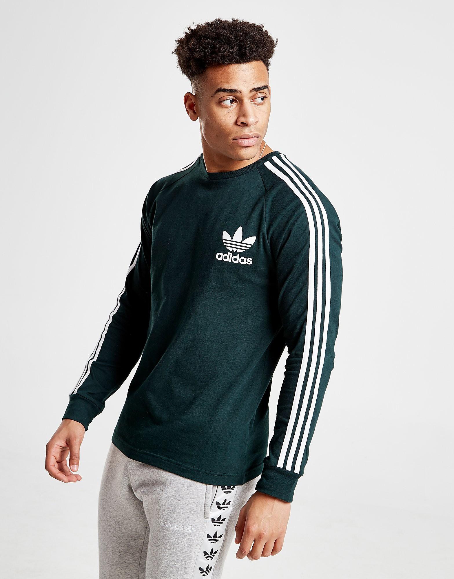 adidas Originals California Long Sleeve T-Shirt - alleen bij JD - Groen - Heren