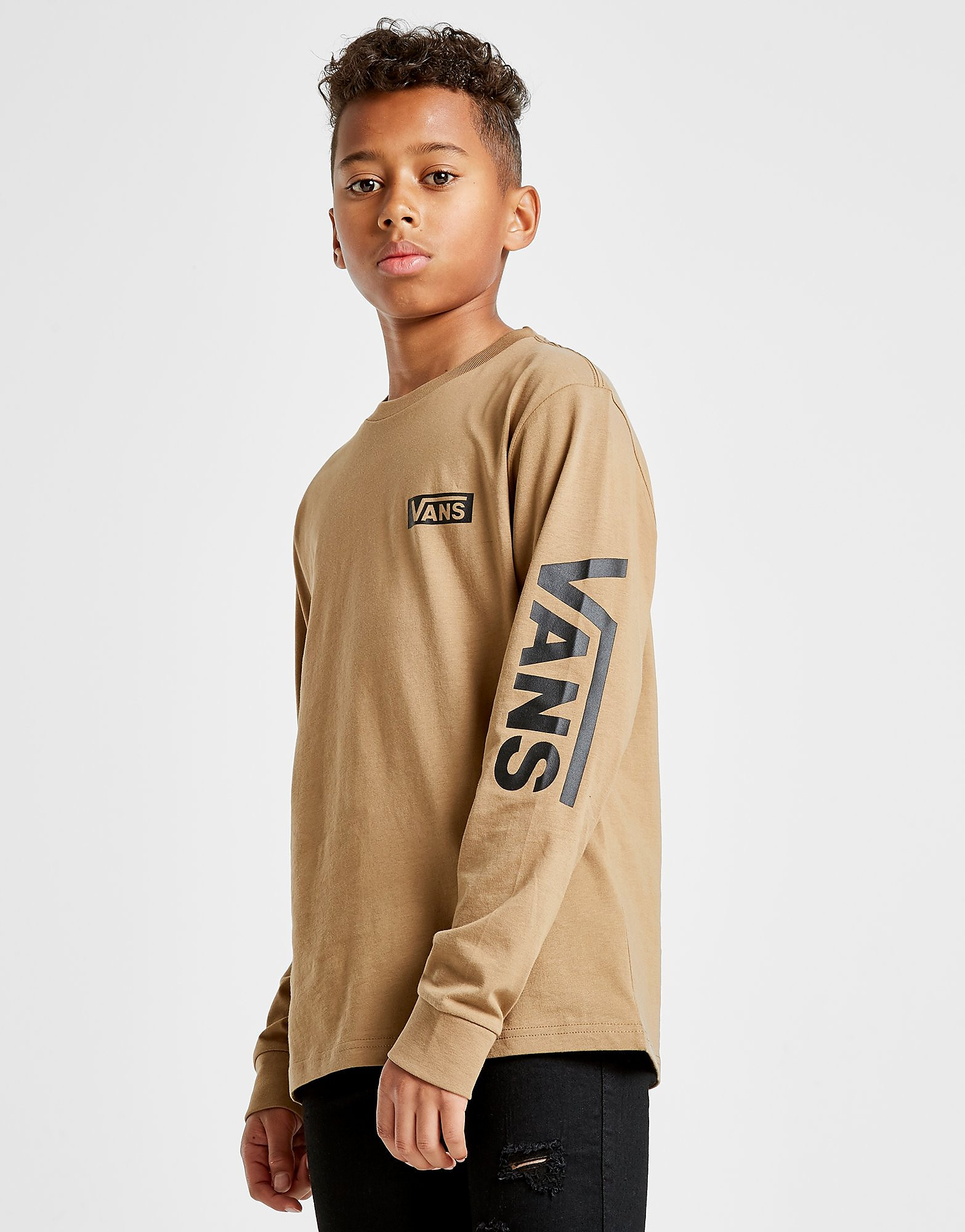 Vans Long Sleeve Logo T-Shirt Junior - alleen bij JD - Bruin - Kind