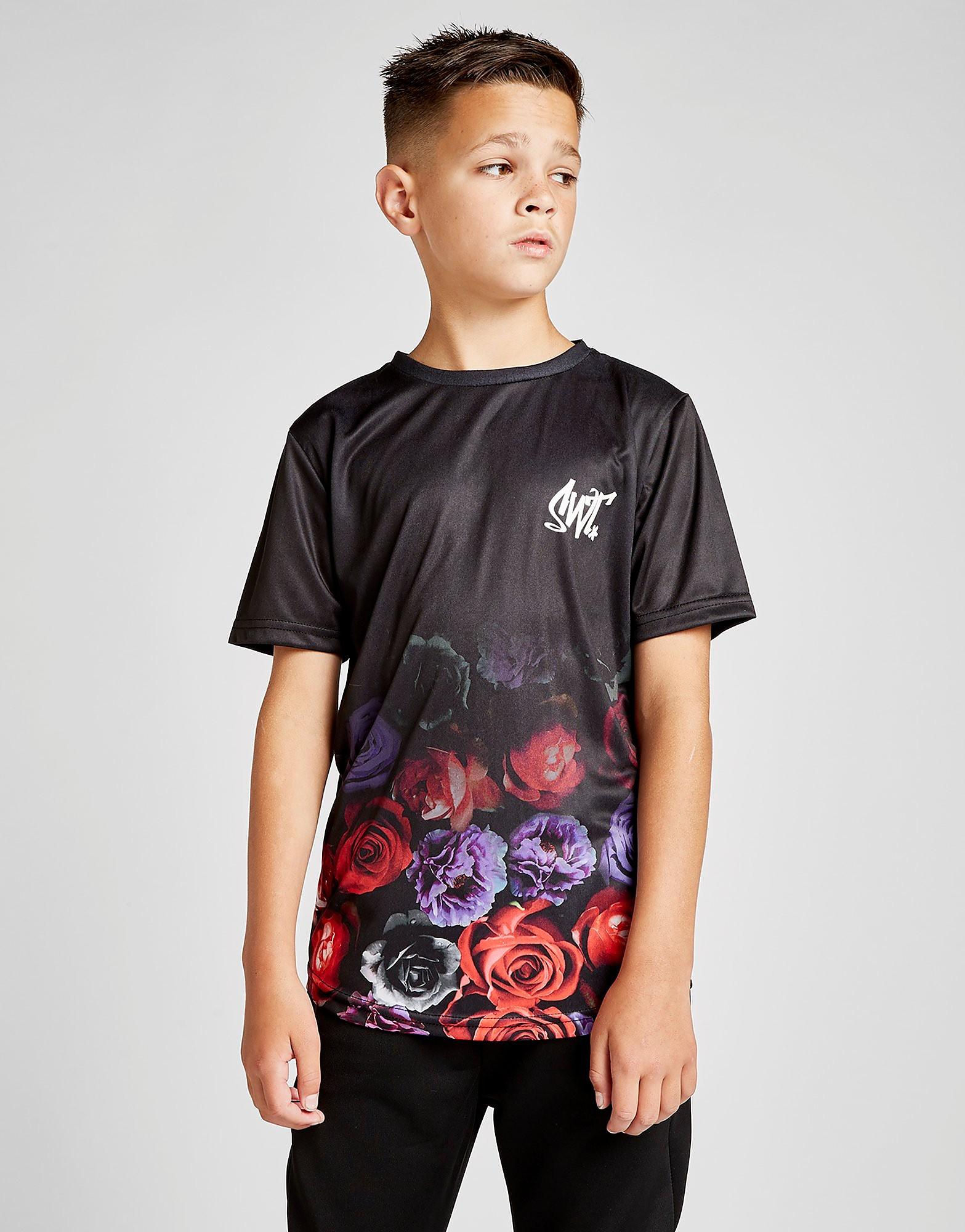 Sonneti Alpha Roses T-Shirt Junior - alleen bij JD - Zwart - Kind