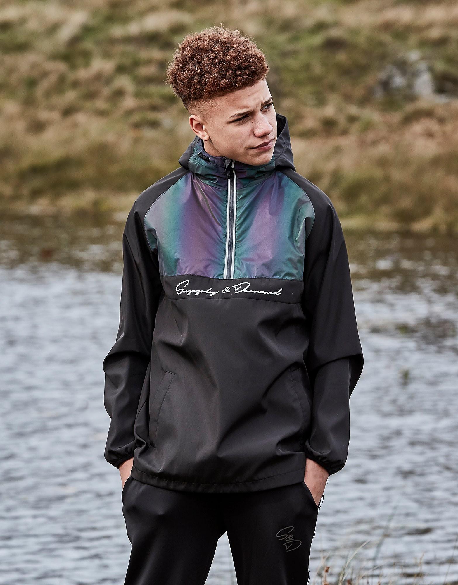 Supply & Demand Eco 1/2 Zip Jacket Junior - alleen bij JD - Zwart - Kind