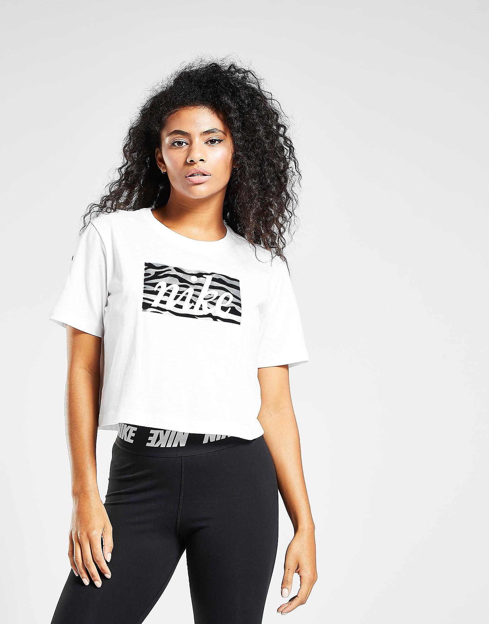 Nike Tiger Camo T-Shirt Dames - Wit - Dames